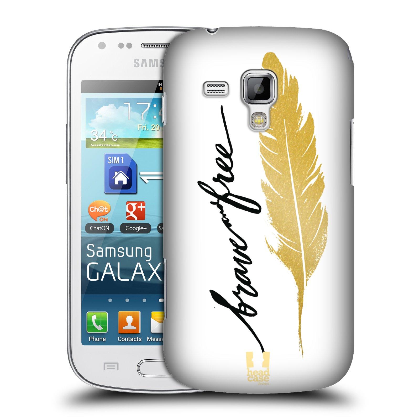 Plastové pouzdro na mobil Samsung Galaxy S Duos HEAD CASE PÍRKO ZLATÉ FREE (Kryt či obal na mobilní telefon Samsung Galaxy S Duos GT-S7562)