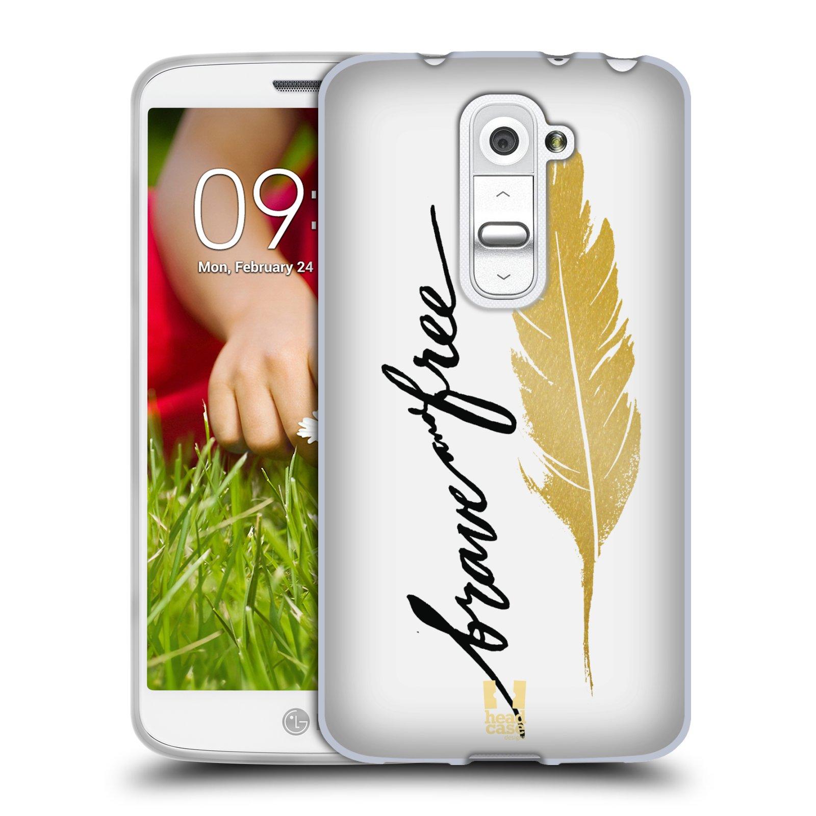 Silikonové pouzdro na mobil LG G2 Mini HEAD CASE PÍRKO ZLATÉ FREE (Silikonový kryt či obal na mobilní telefon LG G2 Mini D620)
