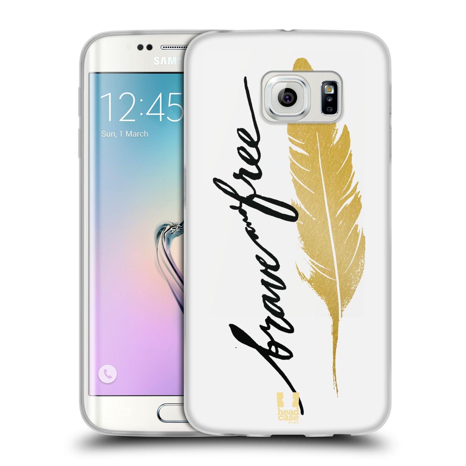Silikonové pouzdro na mobil Samsung Galaxy S6 Edge HEAD CASE PÍRKO ZLATÉ FREE (Silikonový kryt či obal na mobilní telefon Samsung Galaxy S6 Edge SM-G925F)