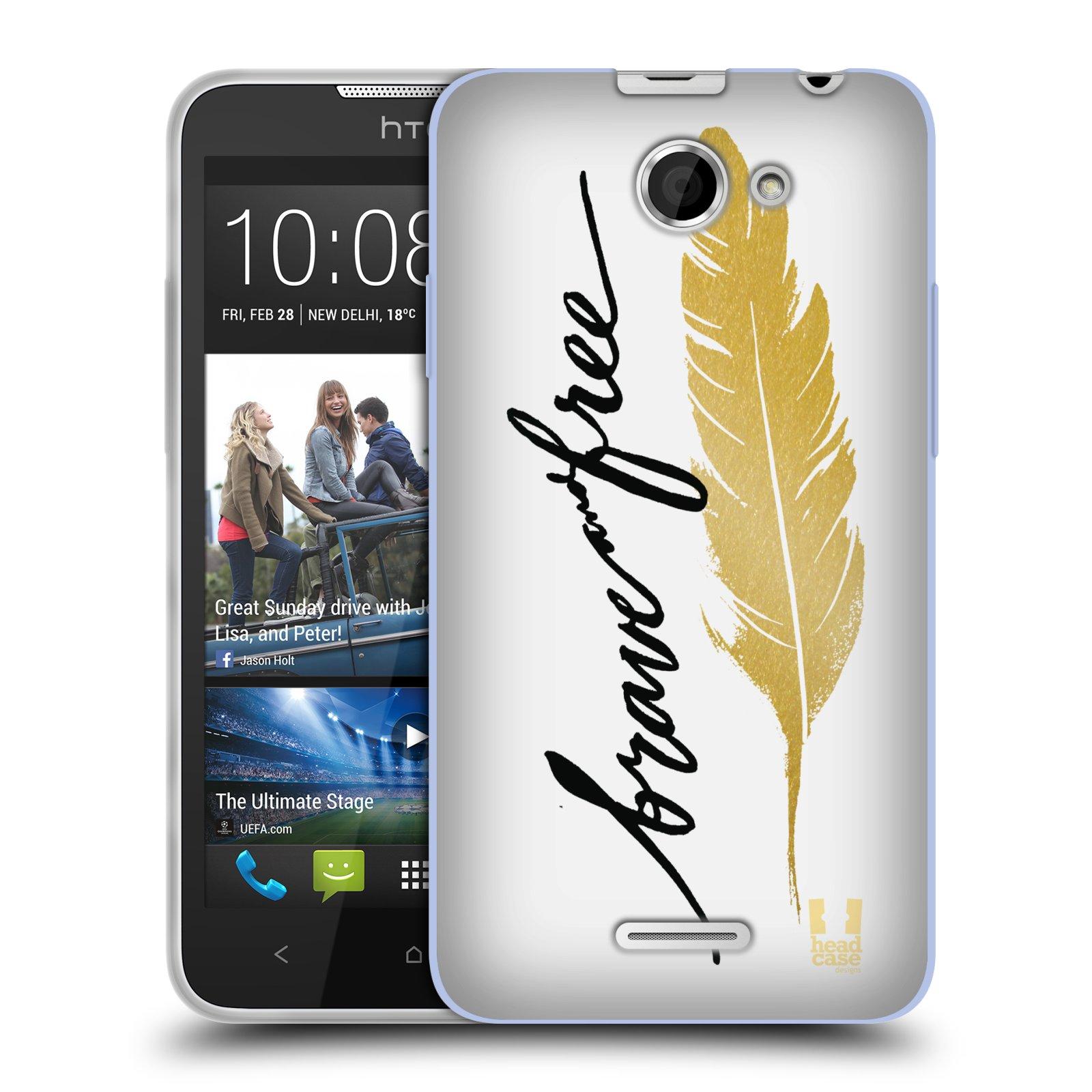 Silikonové pouzdro na mobil HTC Desire 516 HEAD CASE PÍRKO ZLATÉ FREE (Silikonový kryt či obal na mobilní telefon HTC Desire 516 Dual SIM)
