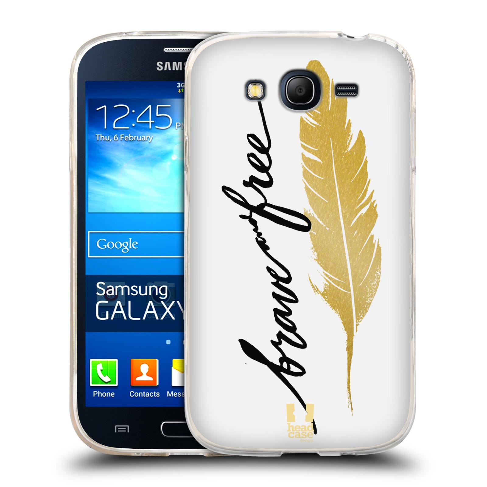 Silikonové pouzdro na mobil Samsung Galaxy Grand Neo HEAD CASE PÍRKO ZLATÉ FREE (Silikonový kryt či obal na mobilní telefon Samsung Galaxy Grand Neo GT-I9060)