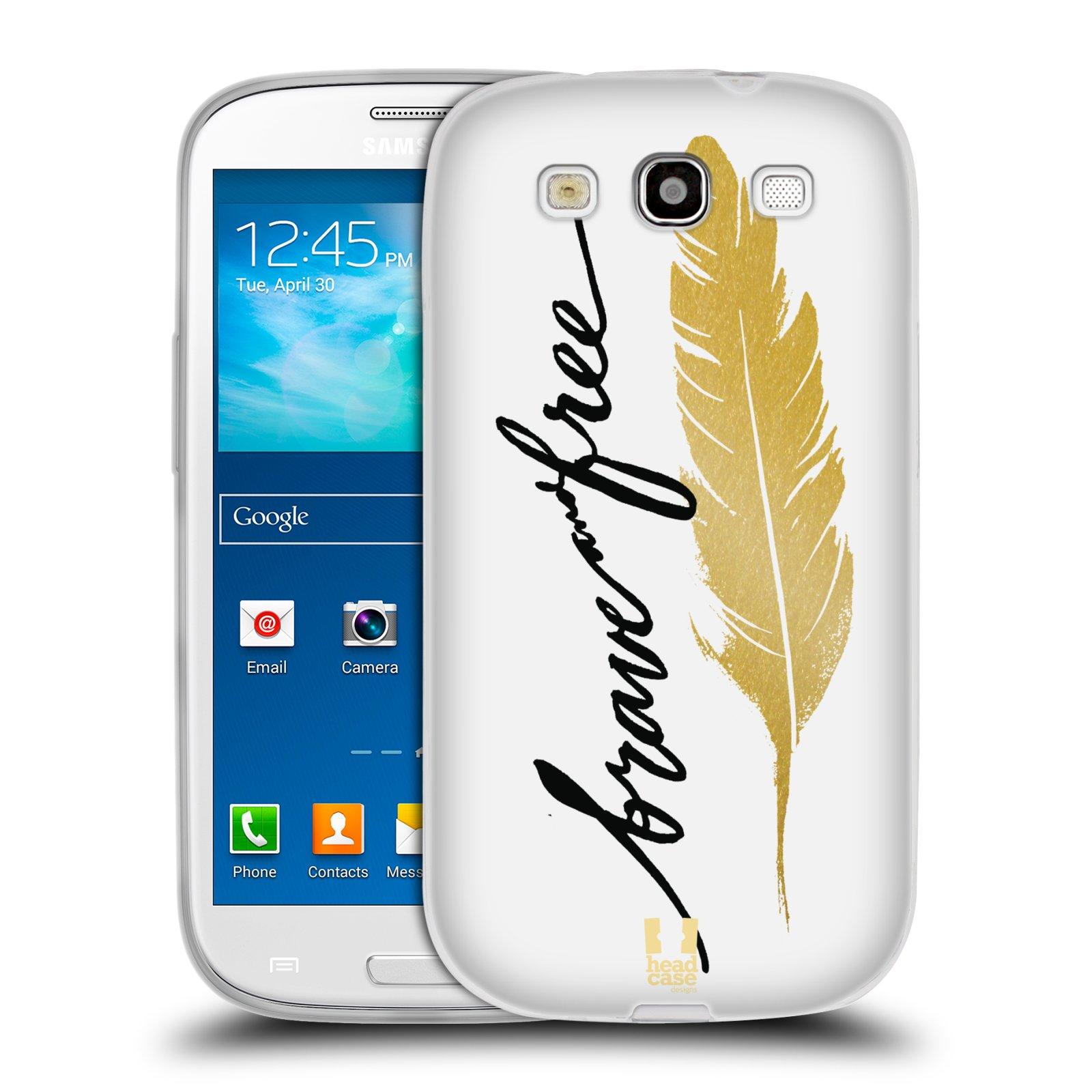 Silikonové pouzdro na mobil Samsung Galaxy S III HEAD CASE PÍRKO ZLATÉ FREE (Silikonový kryt či obal na mobilní telefon Samsung Galaxy S III GT-i9300)