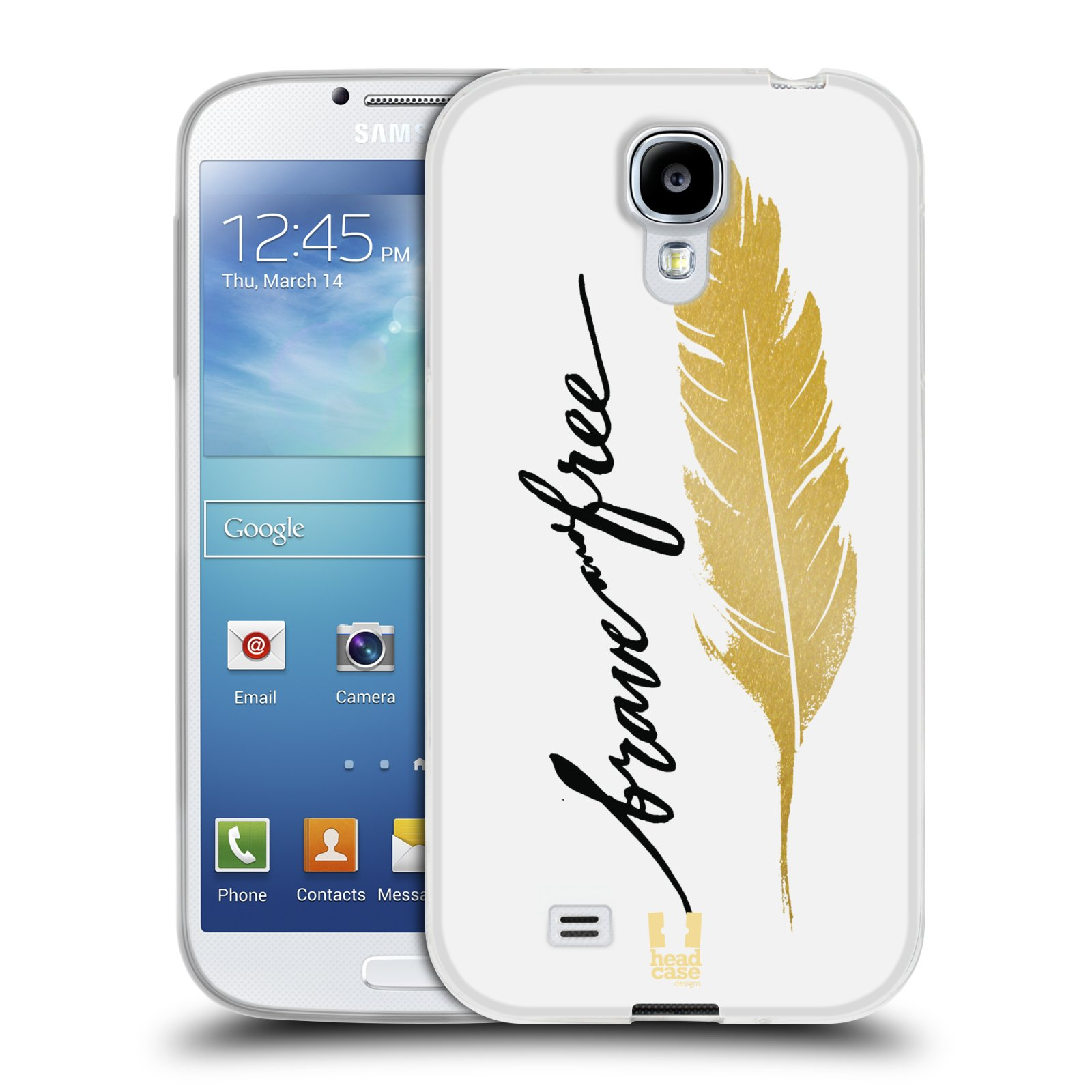 Silikonové pouzdro na mobil Samsung Galaxy S4 HEAD CASE PÍRKO ZLATÉ FREE (Silikonový kryt či obal na mobilní telefon Samsung Galaxy S4 GT-i9505 / i9500)