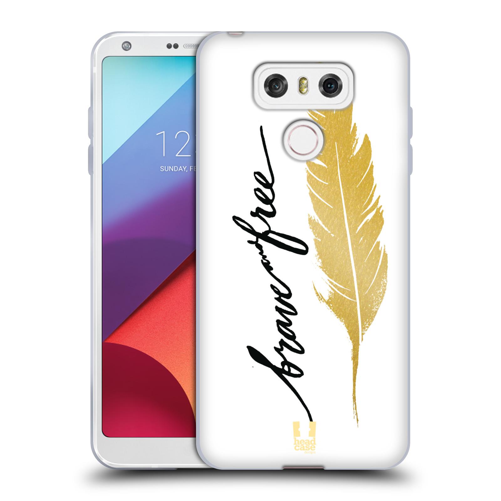 Silikonové pouzdro na mobil LG G6 - Head Case PÍRKO ZLATÉ FREE (Silikonový kryt či obal na mobilní telefon LG G6 H870 / LG G6 Dual SIM H870DS)
