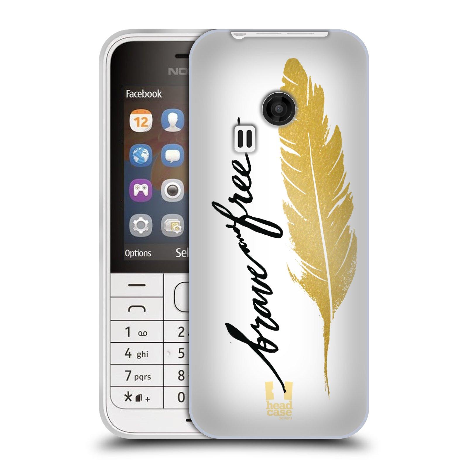 Silikonové pouzdro na mobil Nokia 220 HEAD CASE PÍRKO ZLATÉ FREE (Silikonový kryt či obal na mobilní telefon Nokia 220 a 220 Dual SIM)