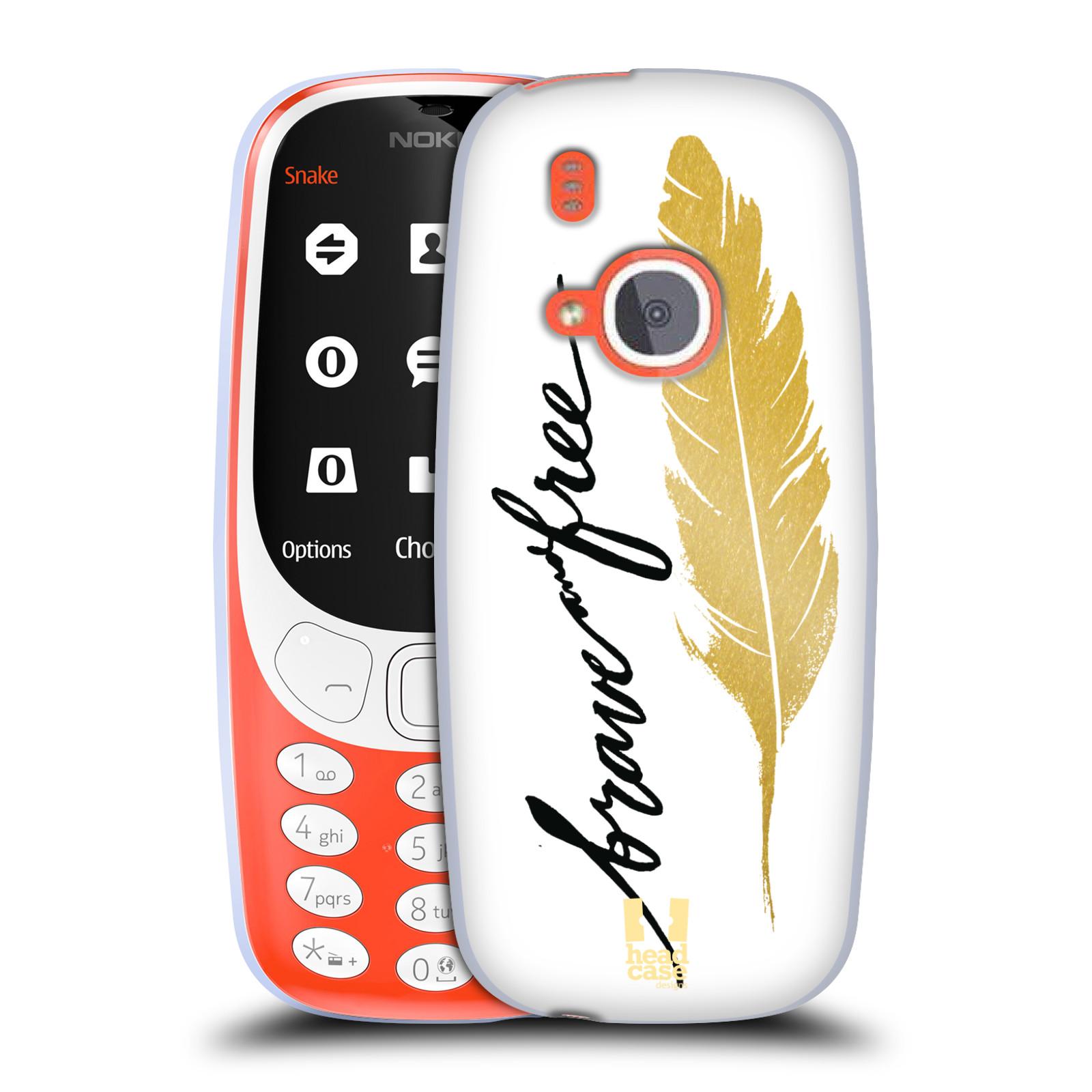Silikonové pouzdro na mobil Nokia 3310 - Head Case - PÍRKO ZLATÉ FREE (Silikonový kryt či obal na mobilní telefon Nokia 3310 (2017) s motivem PÍRKO ZLATÉ FREE)
