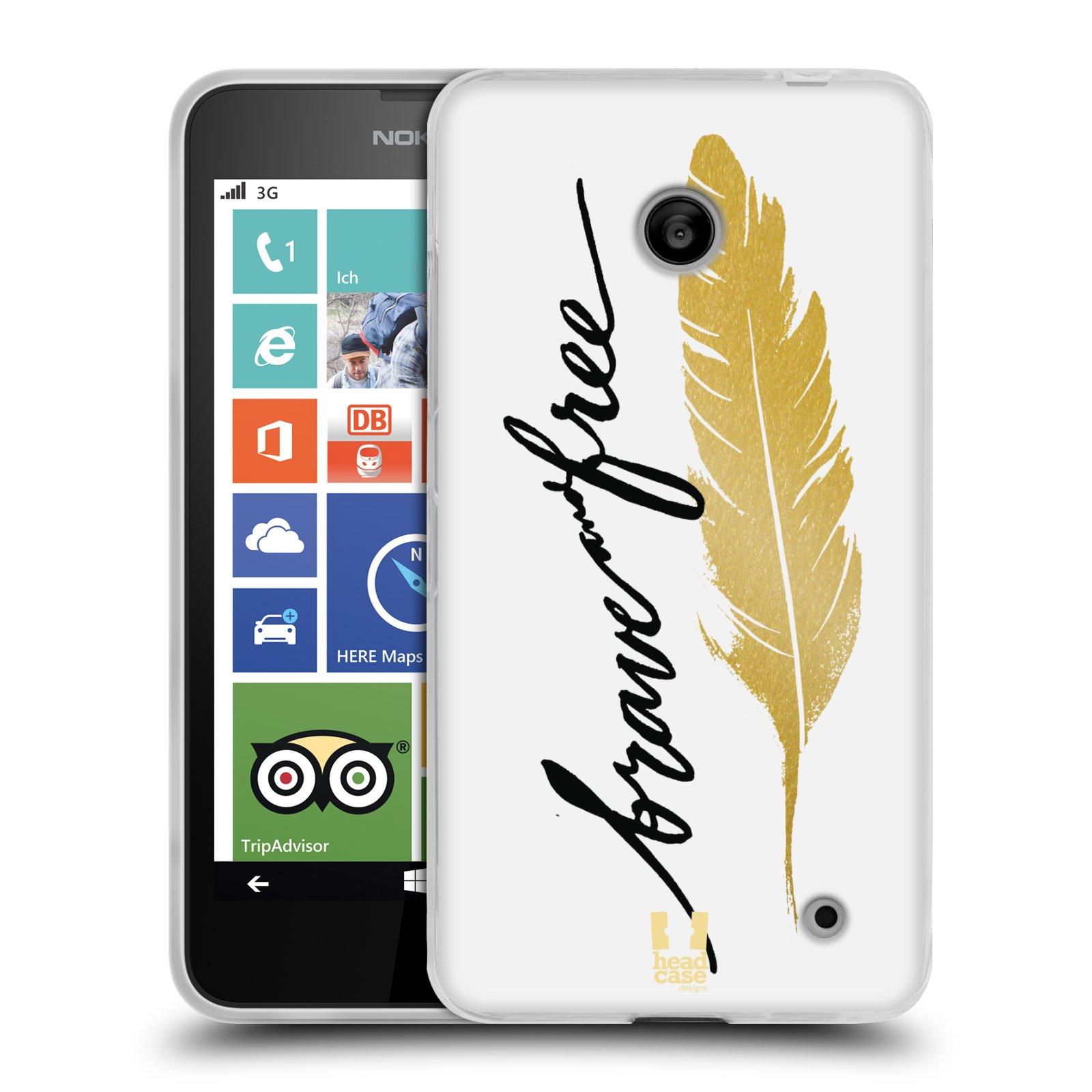 Silikonové pouzdro na mobil Nokia Lumia 630 HEAD CASE PÍRKO ZLATÉ FREE (Silikonový kryt či obal na mobilní telefon Nokia Lumia 630 a Nokia Lumia 630 Dual SIM)