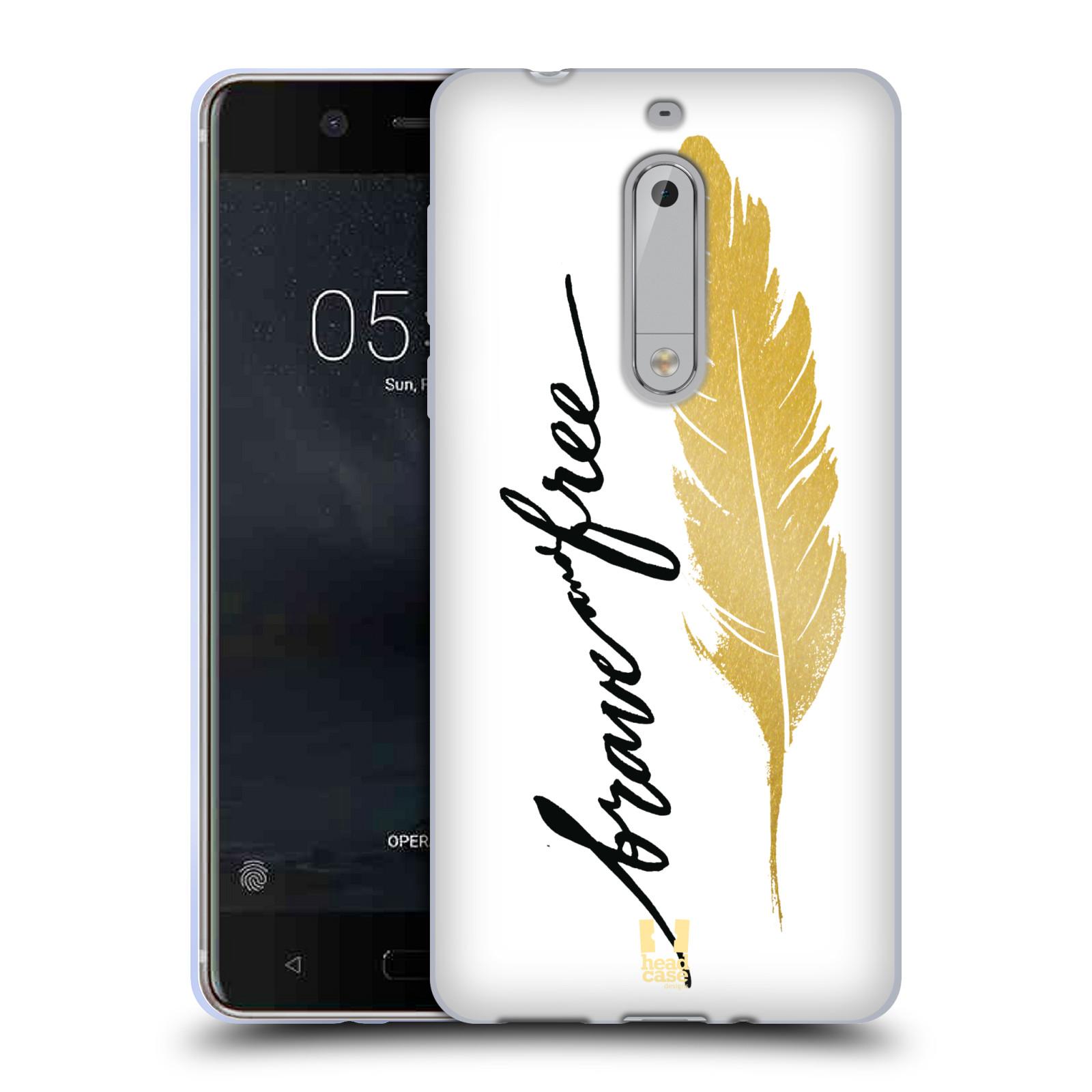 Silikonové pouzdro na mobil Nokia 5 Head Case - PÍRKO ZLATÉ FREE