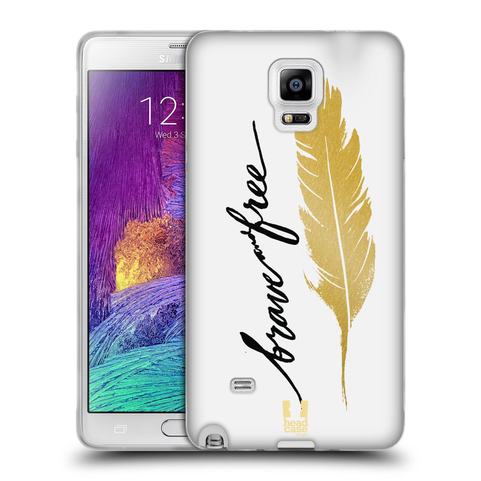 Silikonové pouzdro na mobil Samsung Galaxy Note 4 HEAD CASE PÍRKO ZLATÉ FREE (Silikonový kryt či obal na mobilní telefon Samsung Galaxy Note 4 SM-N910F)