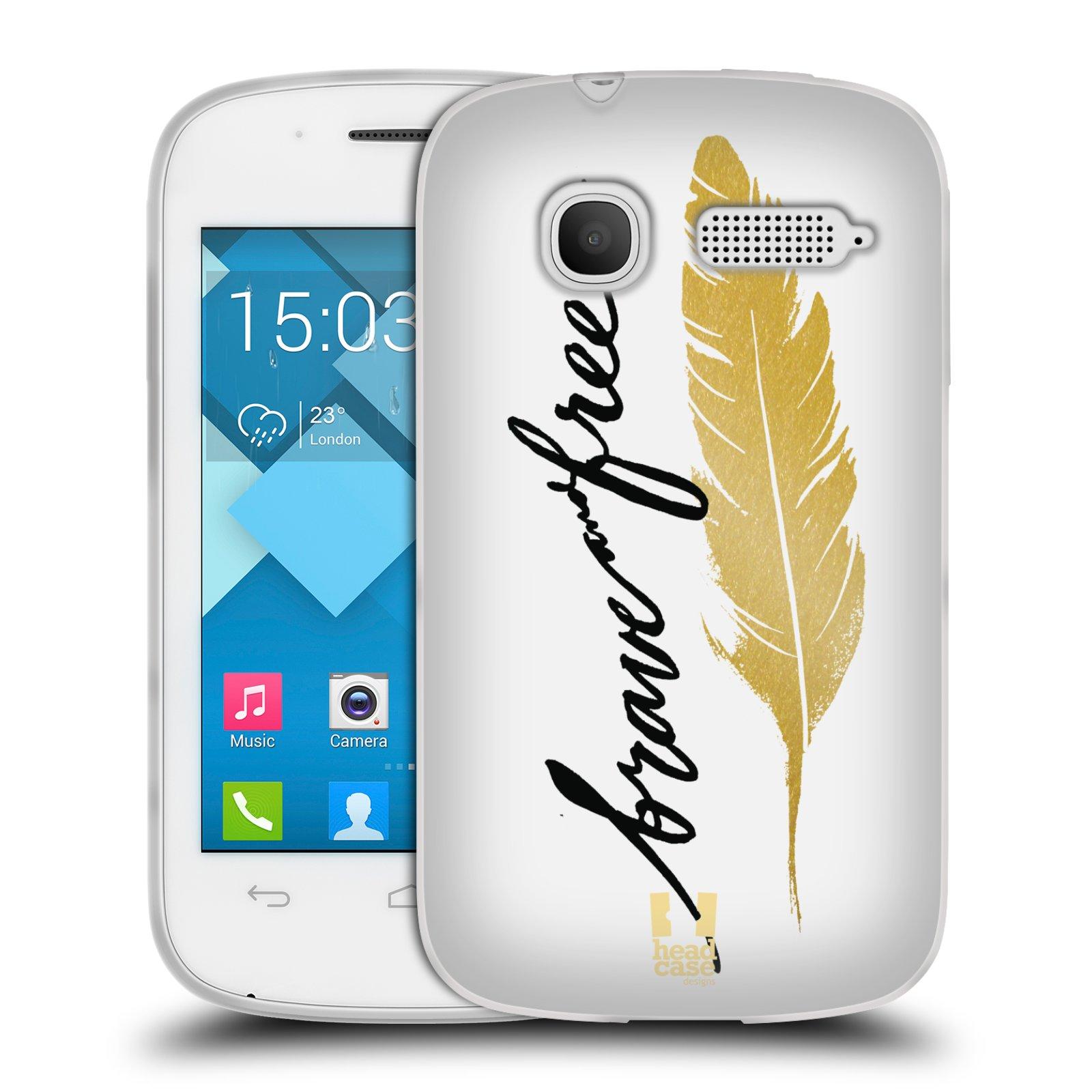 Silikonové pouzdro na mobil Alcatel One Touch Pop C1 HEAD CASE PÍRKO ZLATÉ FREE (Silikonový kryt či obal na mobilní telefon Alcatel OT-4015D POP C1)