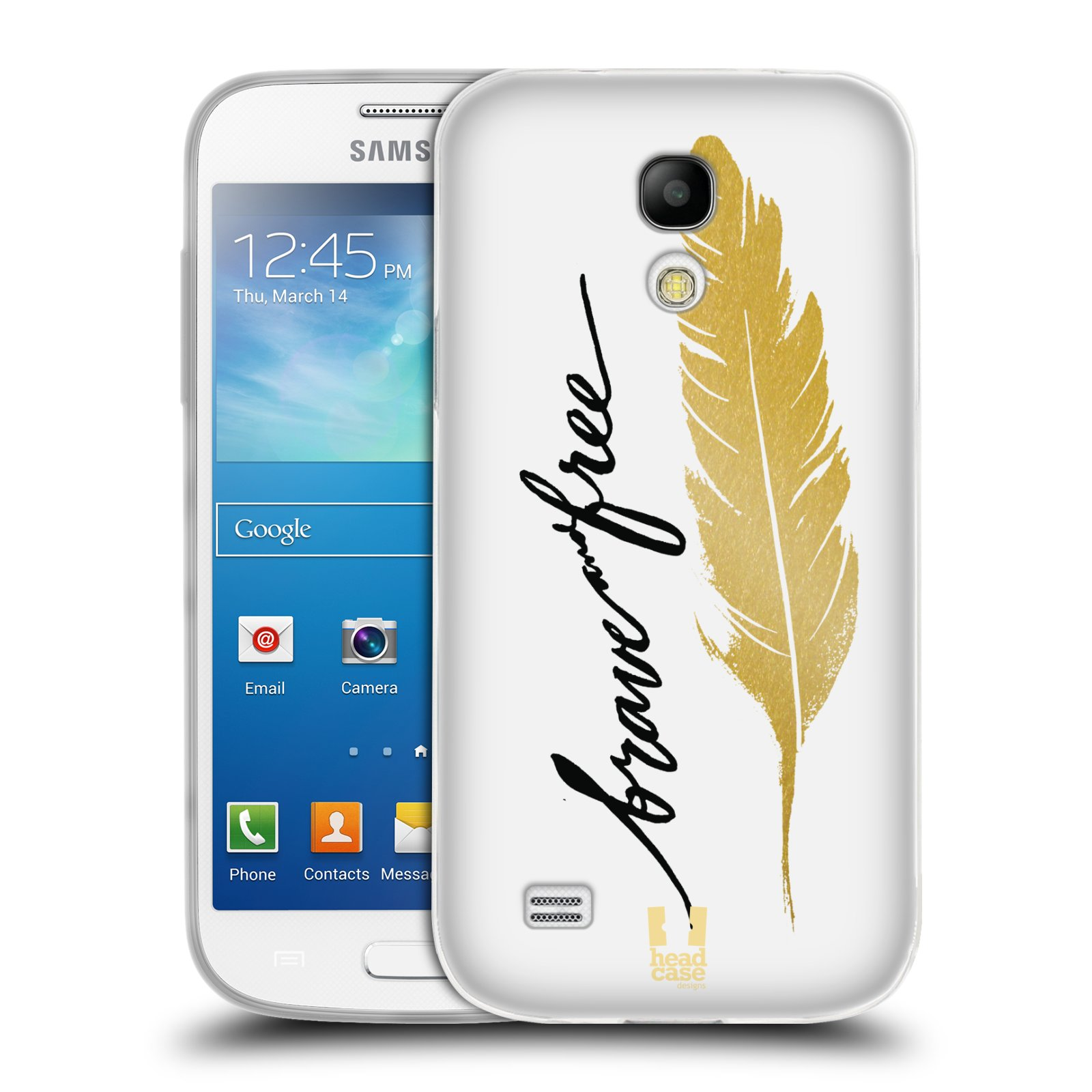 Silikonové pouzdro na mobil Samsung Galaxy S4 Mini HEAD CASE PÍRKO ZLATÉ FREE (Silikonový kryt či obal na mobilní telefon Samsung Galaxy S4 Mini GT-i9195 / i9190 (nepasuje na verzi Black Edition))