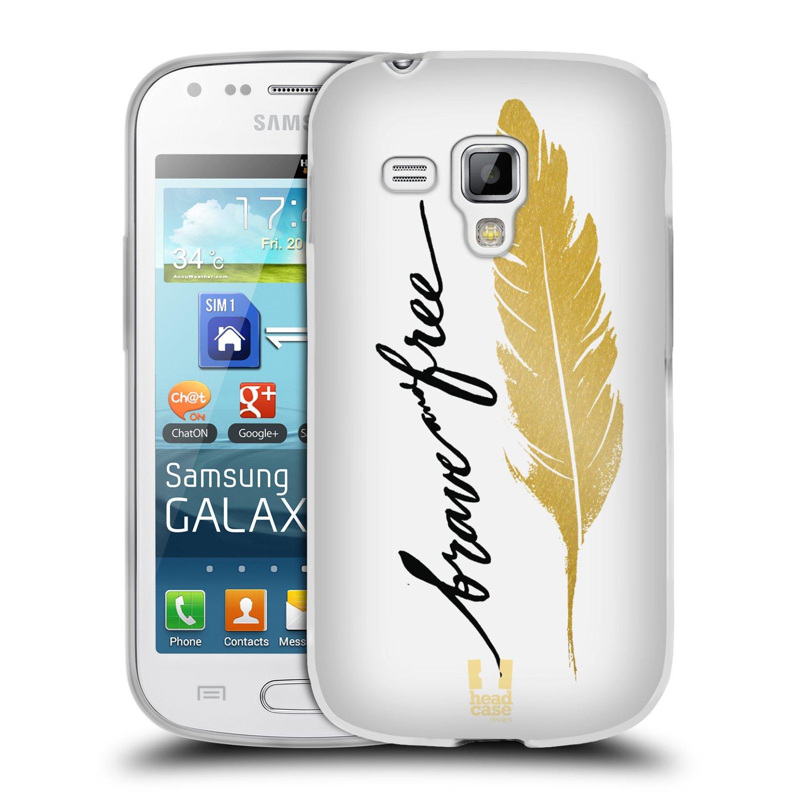Silikonové pouzdro na mobil Samsung Galaxy Trend HEAD CASE PÍRKO ZLATÉ FREE (Silikonový kryt či obal na mobilní telefon Samsung Galaxy Trend GT-S7560)