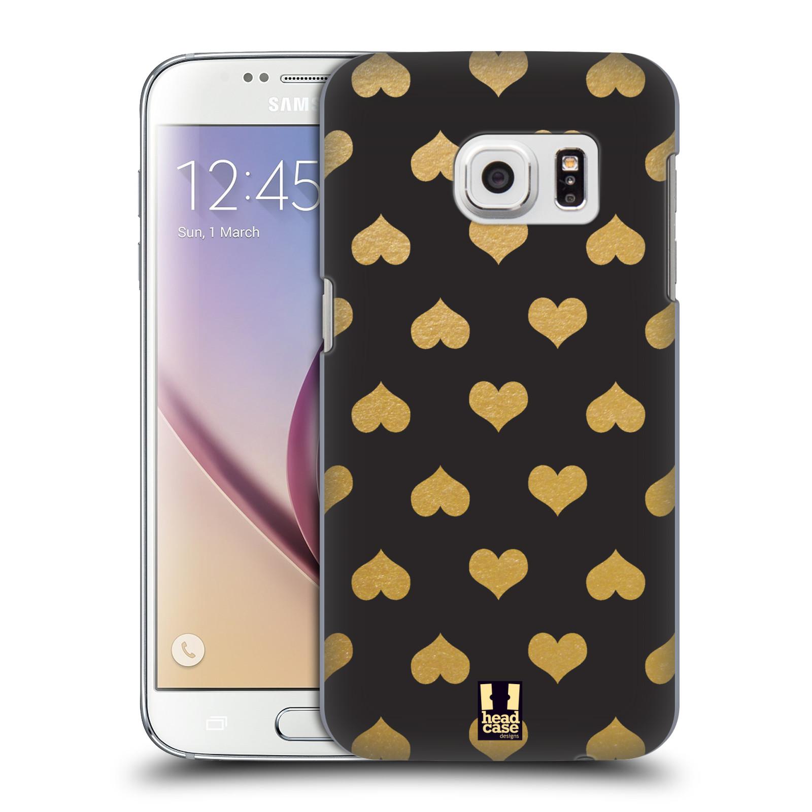 Plastové pouzdro na mobil Samsung Galaxy S7 HEAD CASE ZLATÁ SRDÍČKA (Kryt či obal na mobilní telefon Samsung Galaxy S7 SM-G930F)
