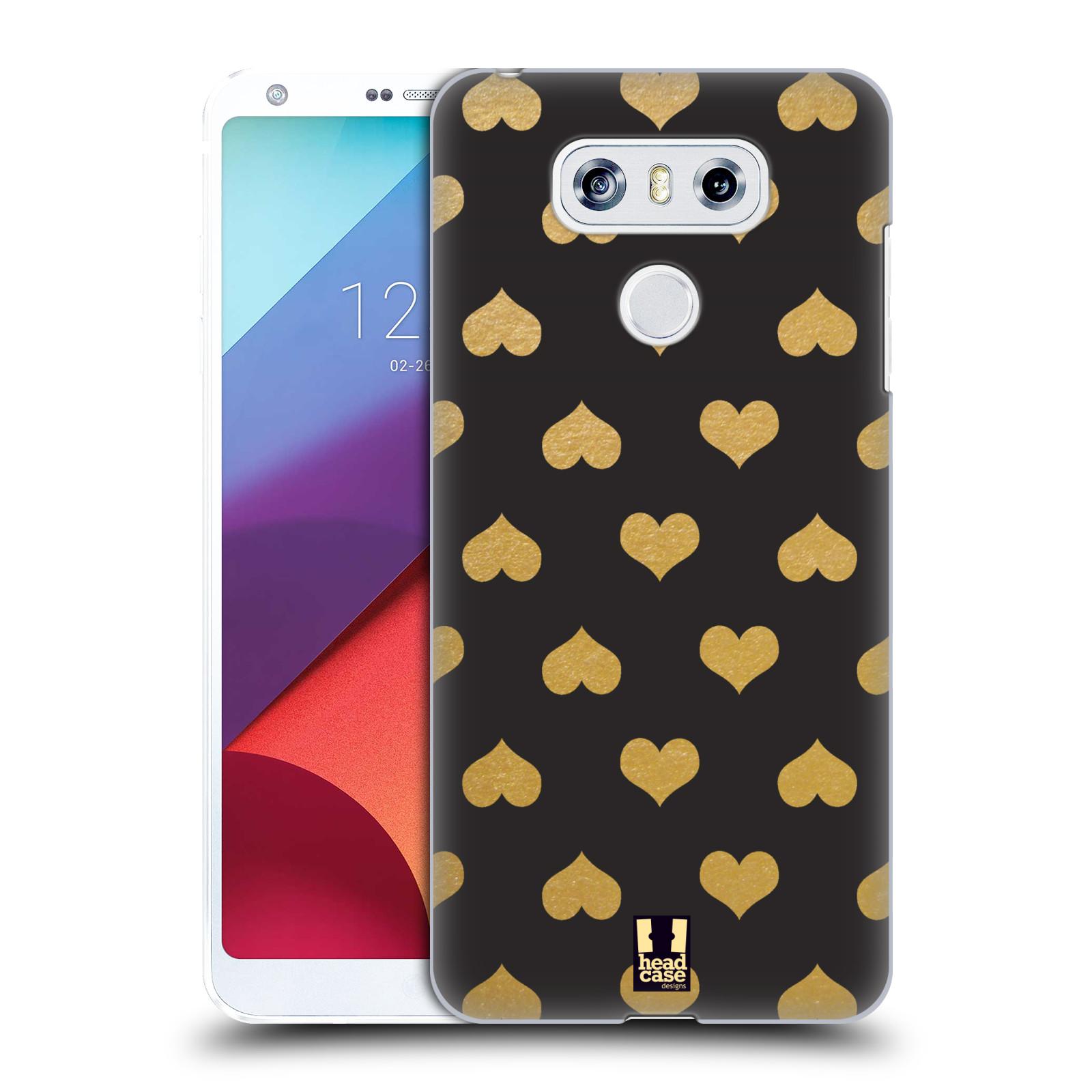 Plastové pouzdro na mobil LG G6 - Head Case ZLATÁ SRDÍČKA