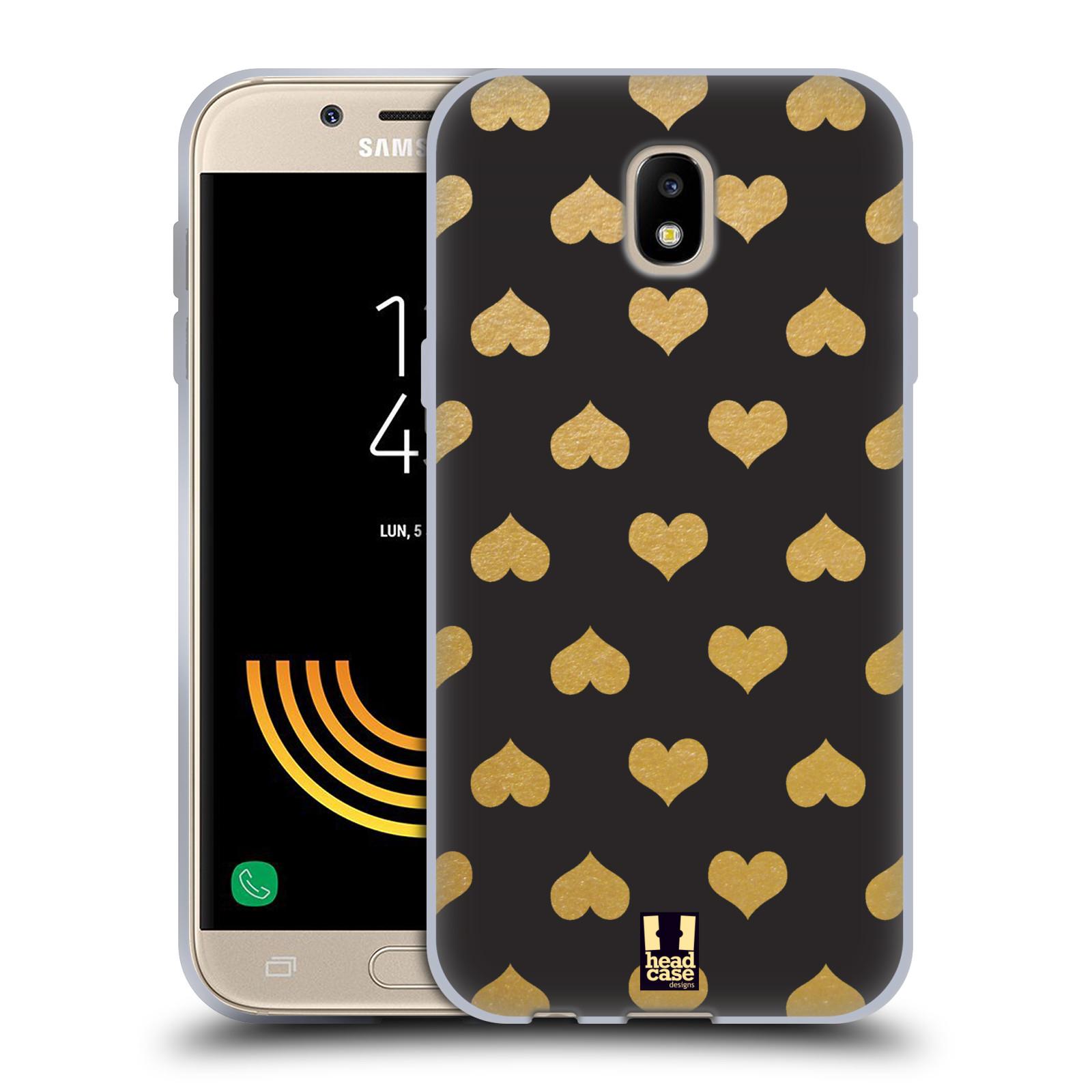 Silikonové pouzdro na mobil Samsung Galaxy J5 (2017) - Head Case - ZLATÁ SRDÍČKA