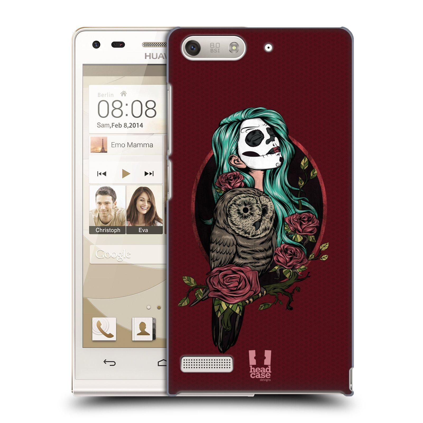Plastové pouzdro na mobil Huawei Ascend G6 HEAD CASE SOVÍ DÁMA ZULU (Kryt či obal na mobilní telefon Huawei Ascend G6 bez LTE)