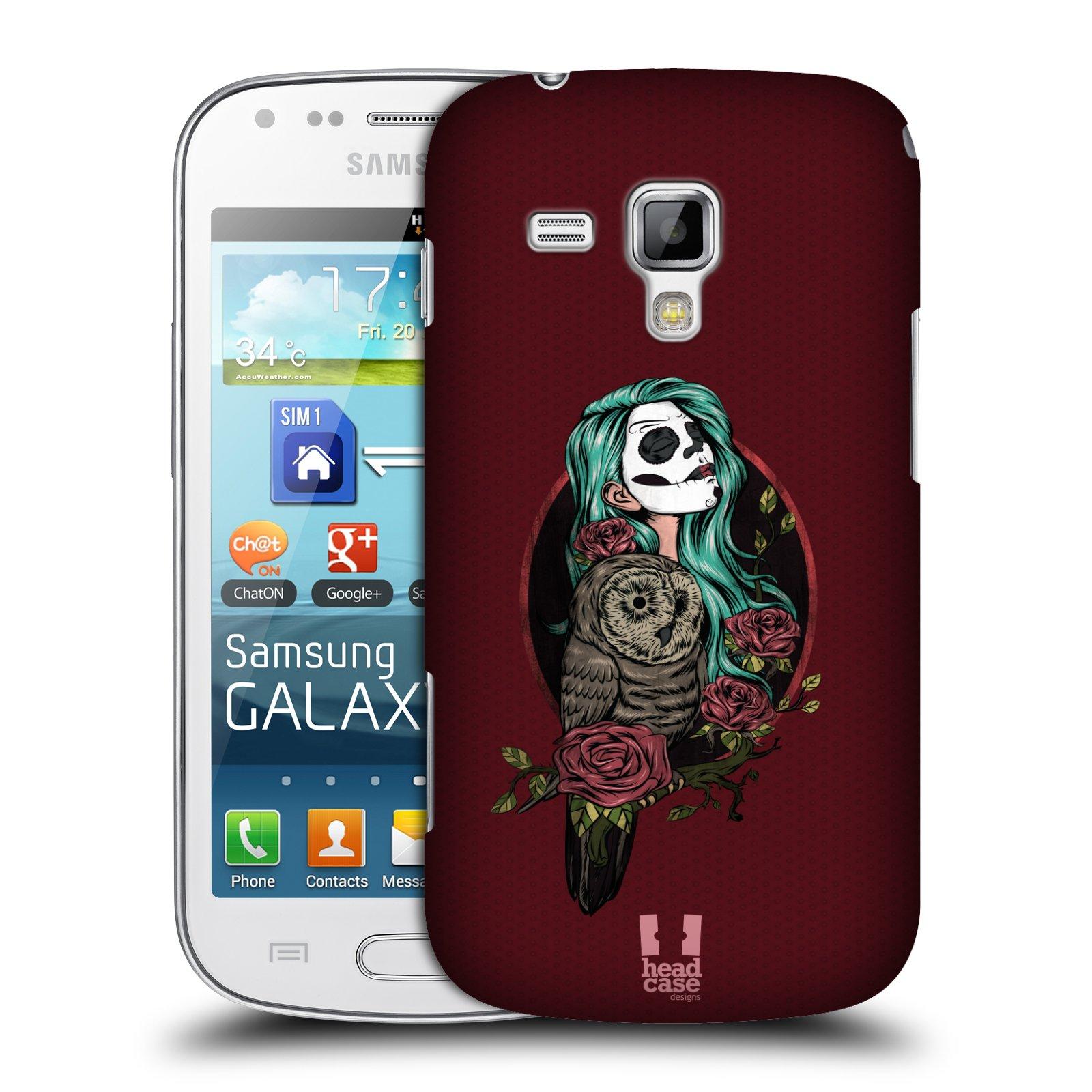 Plastové pouzdro na mobil Samsung Galaxy Trend Plus HEAD CASE SOVÍ DÁMA ZULU (Kryt či obal na mobilní telefon Samsung Galaxy Trend Plus GT-S7580)