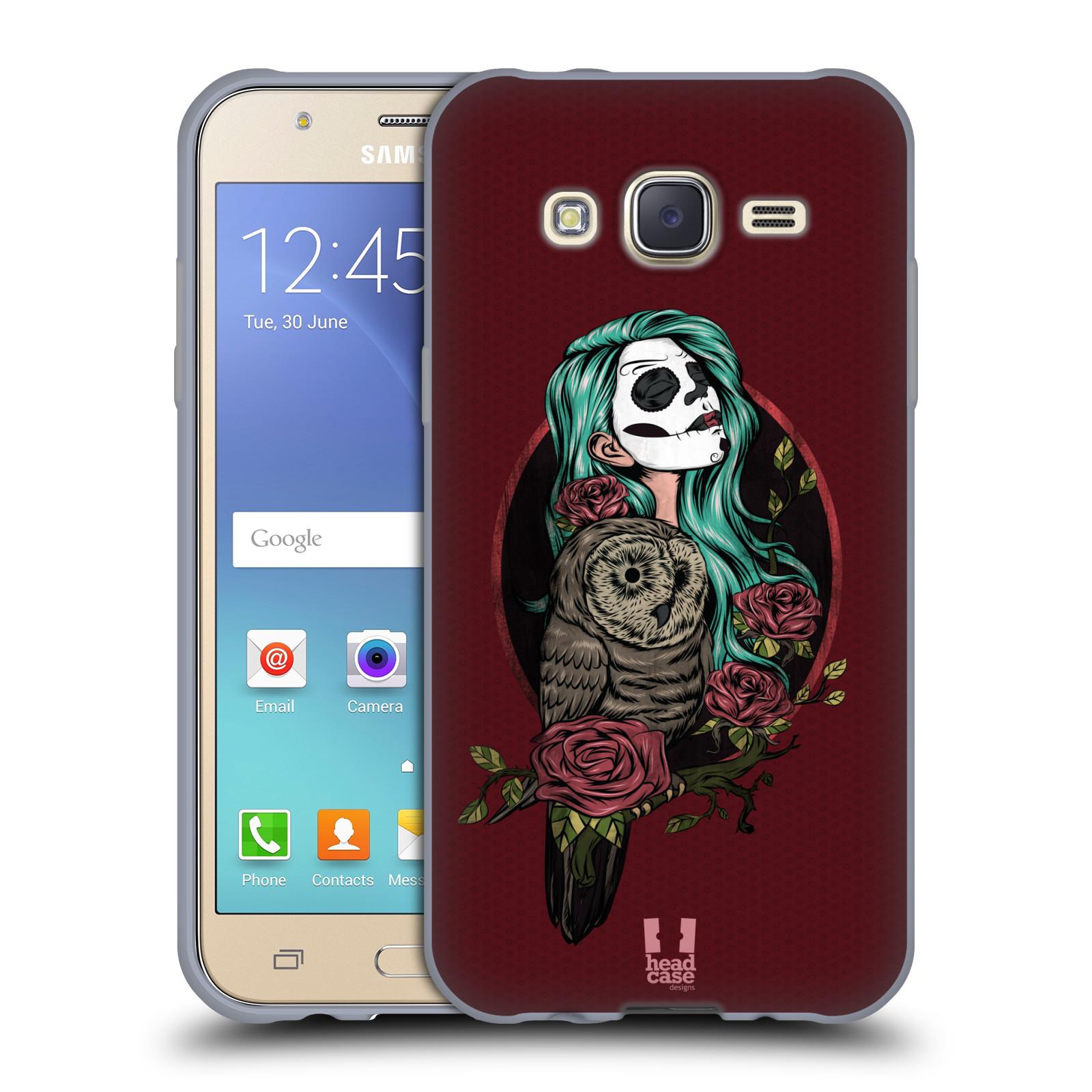 Silikonové pouzdro na mobil Samsung Galaxy J5 HEAD CASE SOVÍ DÁMA ZULU