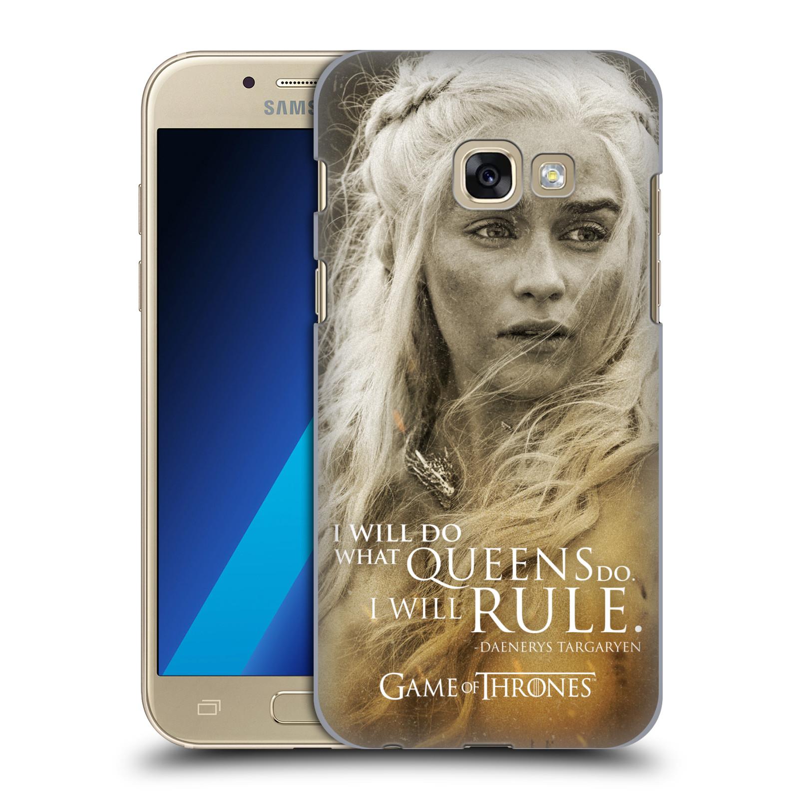 Plastové pouzdro na mobil Samsung Galaxy A3 (2017) HEAD CASE Hra o trůny - Daenerys Targaryen