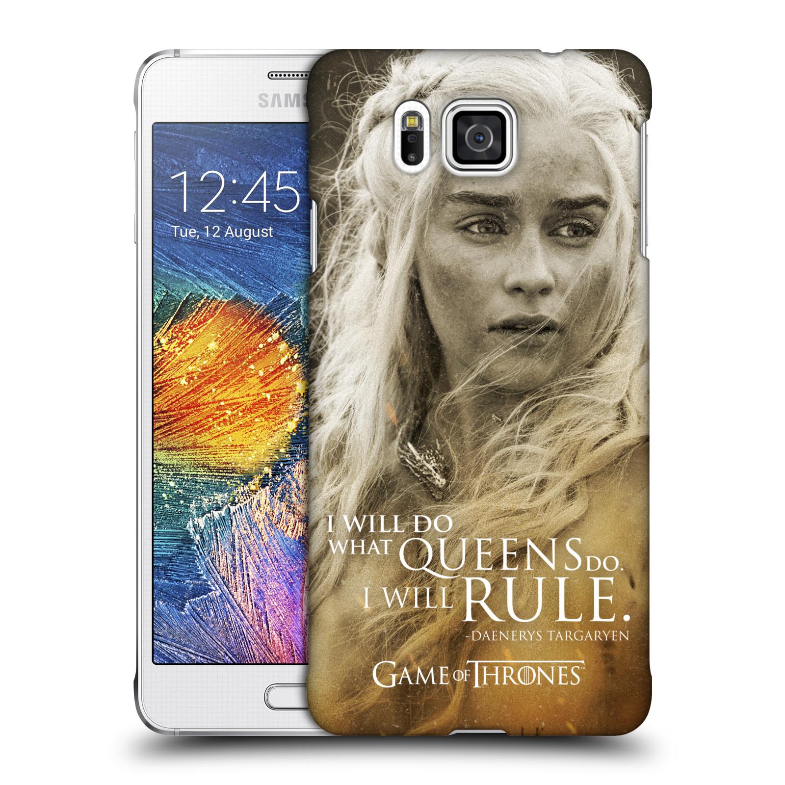 Plastové pouzdro na mobil Samsung Galaxy Alpha HEAD CASE Hra o trůny - Daenerys Targaryen