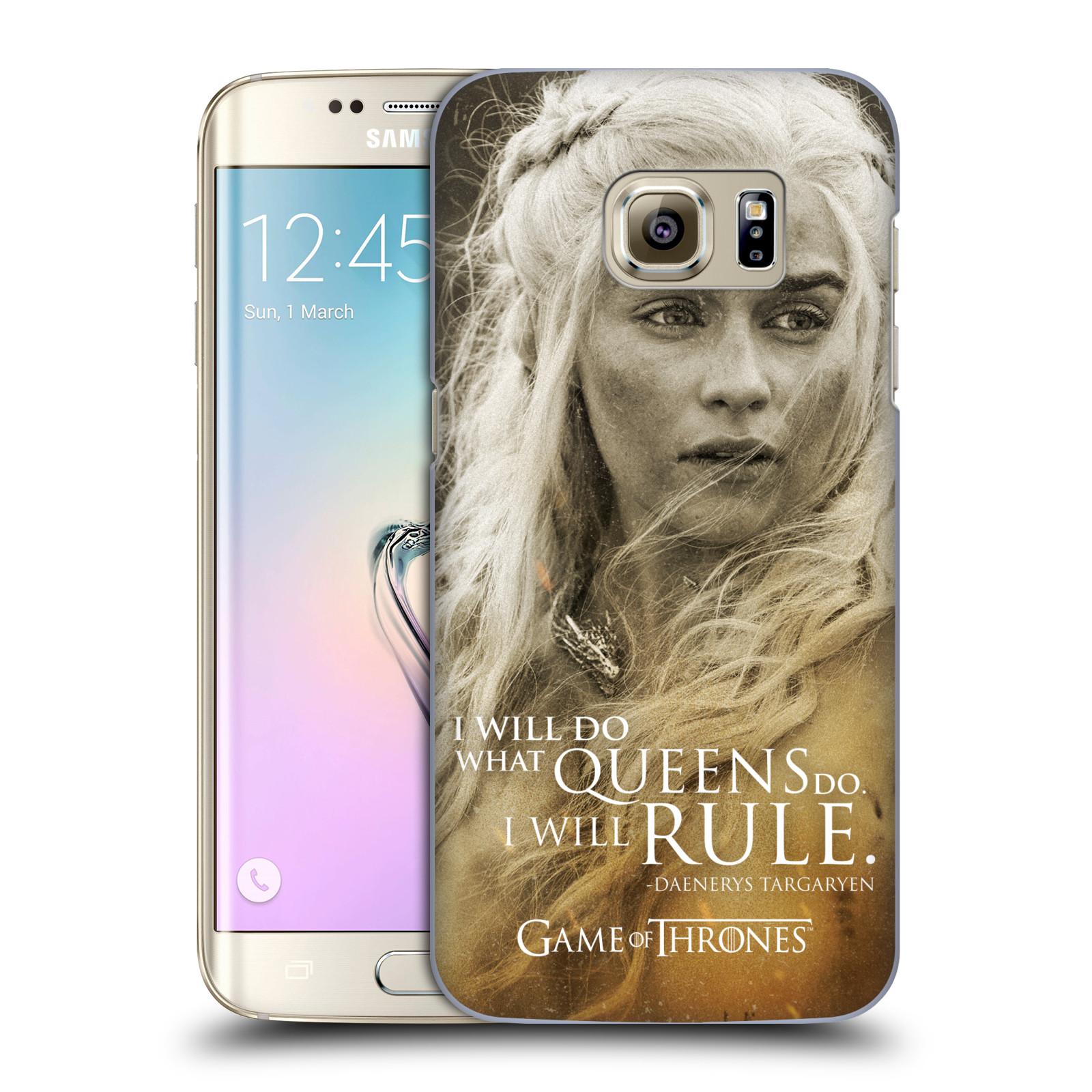 Plastové pouzdro na mobil Samsung Galaxy S7 Edge HEAD CASE Hra o trůny - Daenerys Targaryen