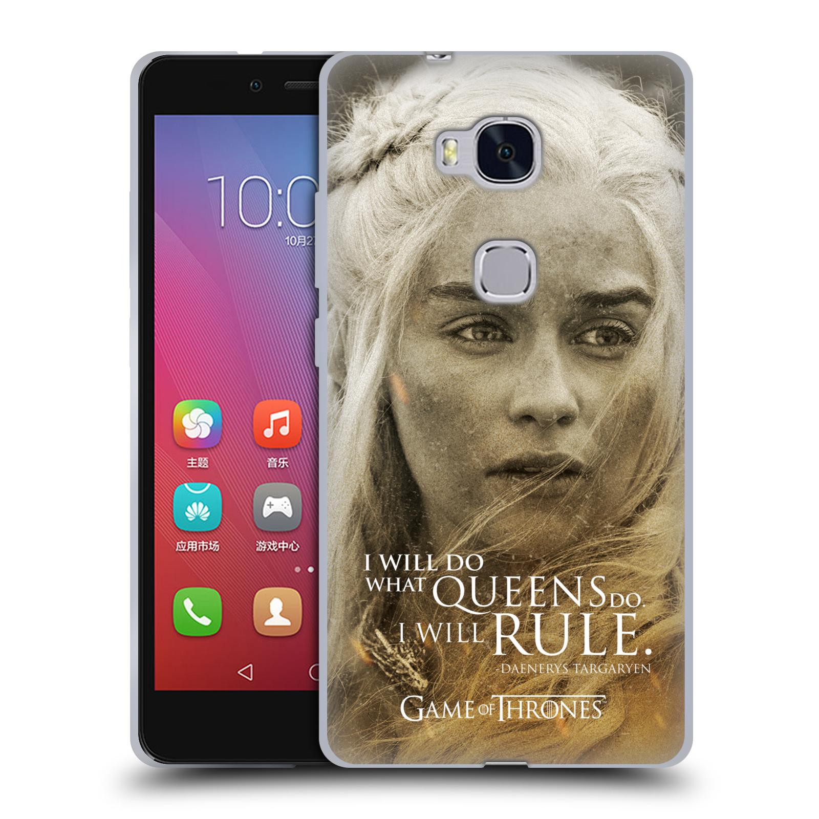 Silikonové pouzdro na mobil Honor 5X HEAD CASE Hra o trůny - Daenerys Targaryen