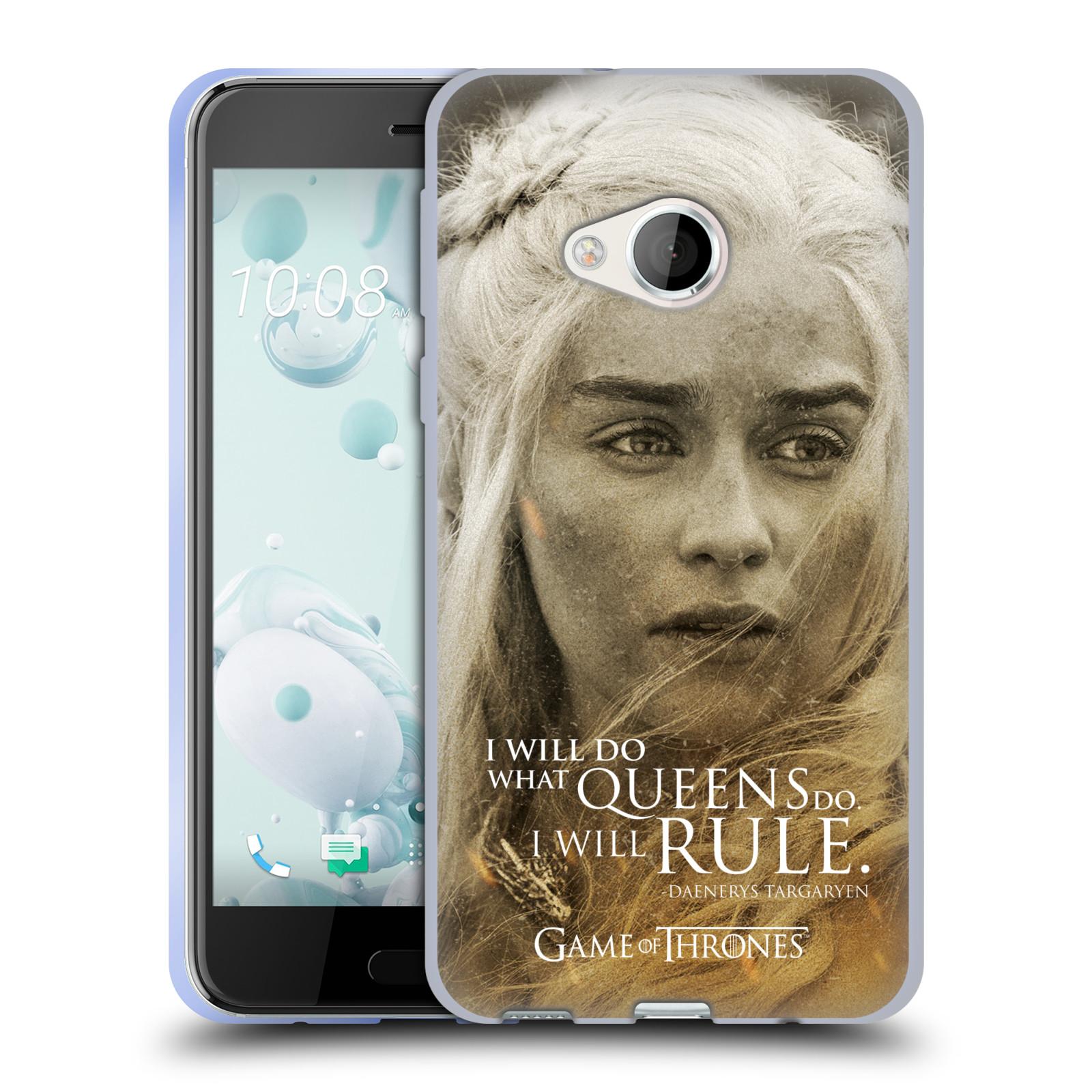 Silikonové pouzdro na mobil HTC U Play - Head Case Hra o trůny - Daenerys Targaryen