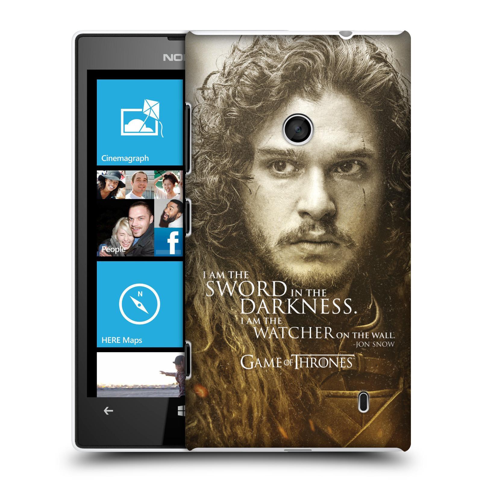 Plastové pouzdro na mobil Nokia Lumia 520 HEAD CASE Hra o trůny - Jon Snow (Plastový kryt či obal na mobilní telefon s licencovaným motivem Hra o trůny - Game Of Thrones pro Nokia Lumia 520 )