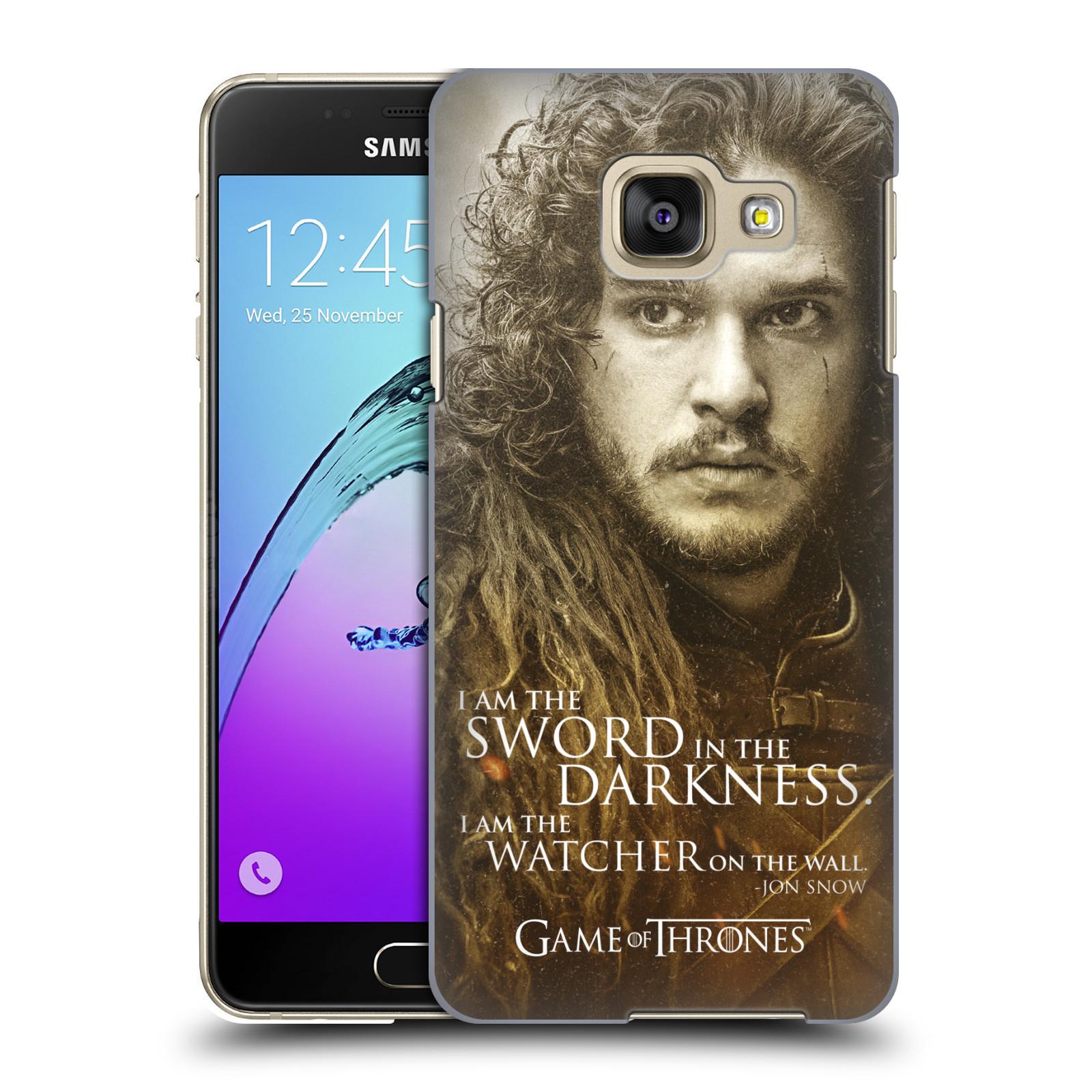 Plastové pouzdro na mobil Samsung Galaxy A3 (2016) HEAD CASE Hra o trůny - Jon Snow