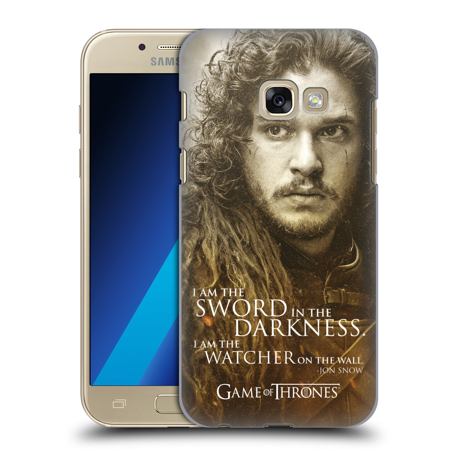 Plastové pouzdro na mobil Samsung Galaxy A3 (2017) HEAD CASE Hra o trůny - Jon Snow