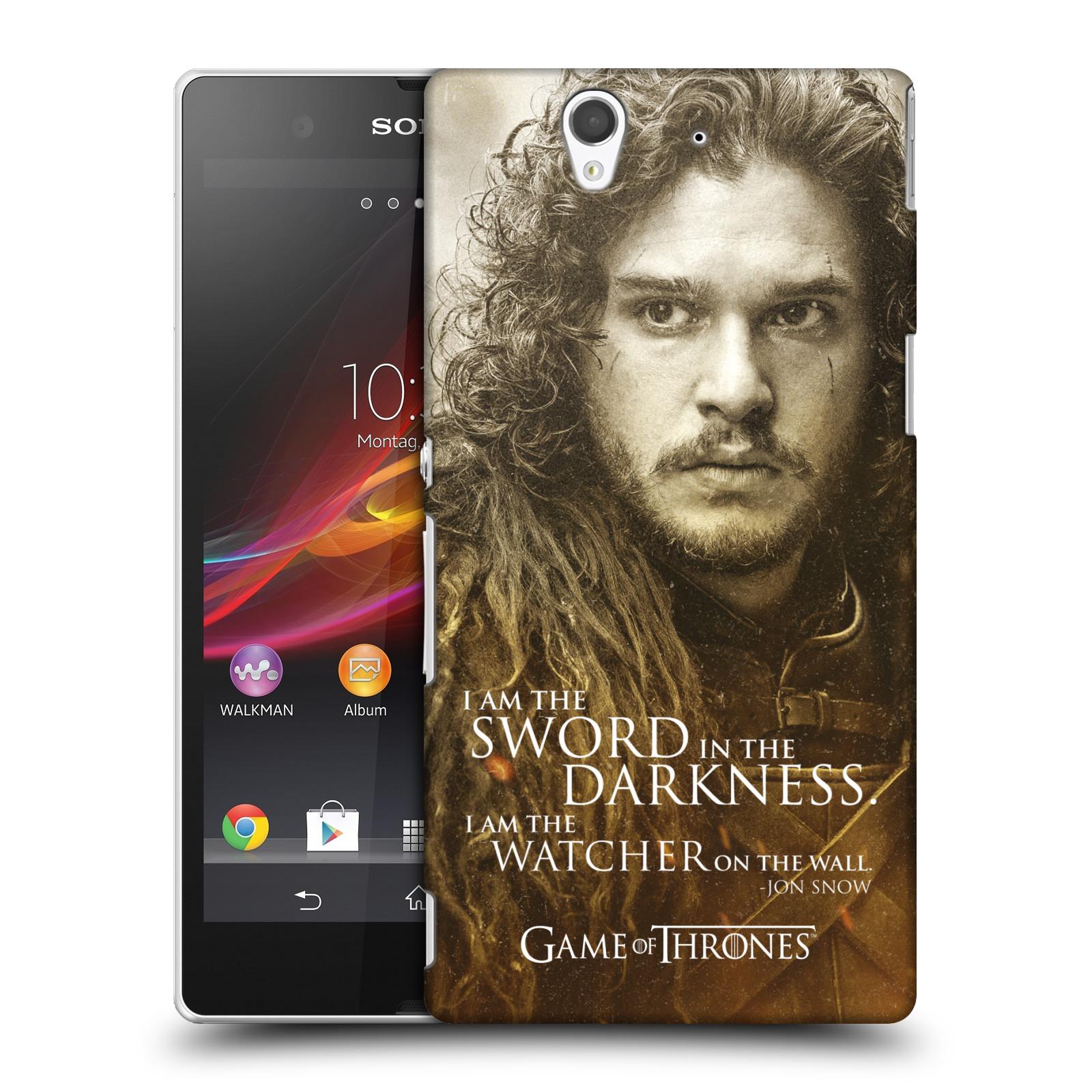 Plastové pouzdro na mobil Sony Xperia Z C6603 HEAD CASE Hra o trůny - Jon Snow (Plastový kryt či obal na mobilní telefon s licencovaným motivem Hra o trůny - Game Of Thrones pro Sony Xperia Z)