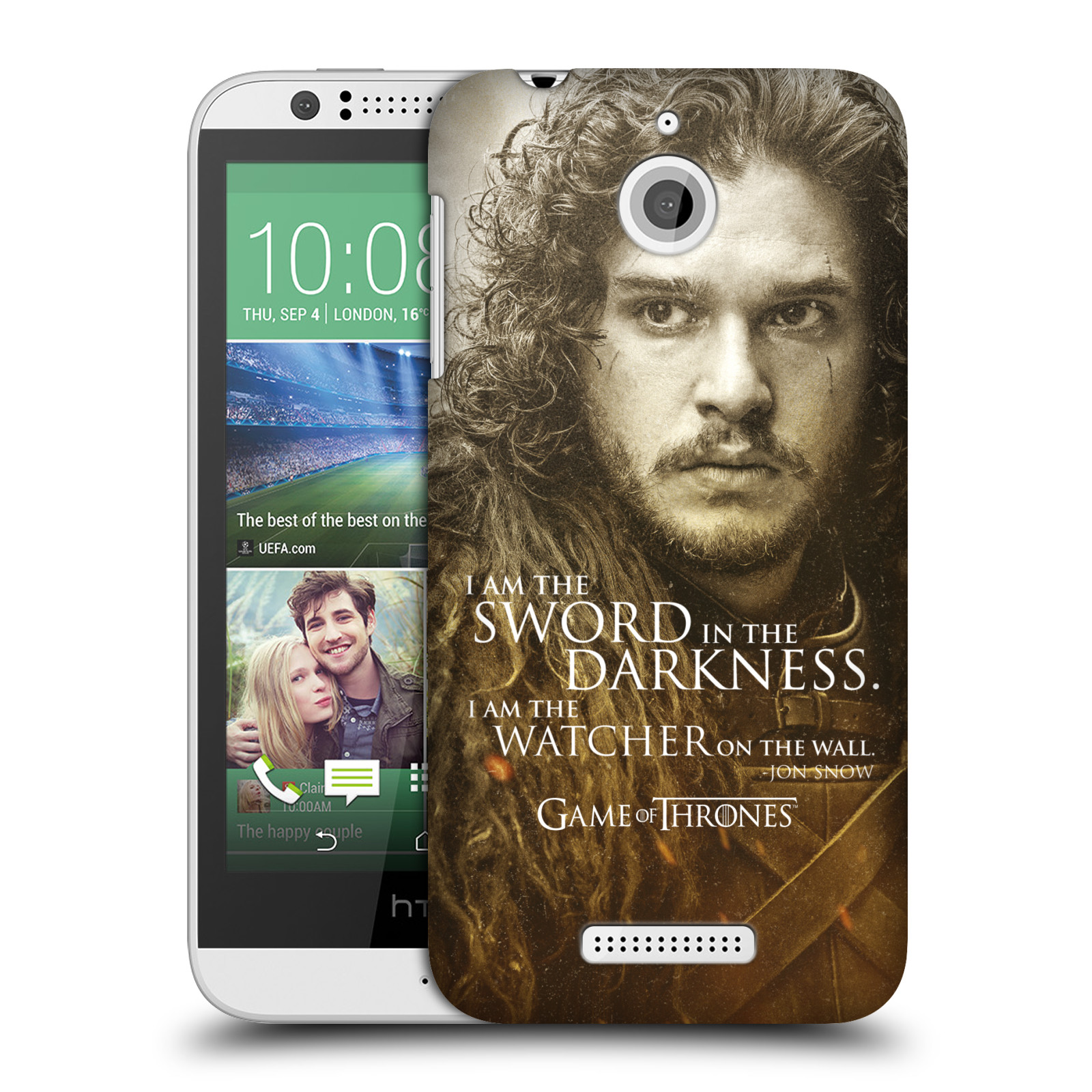 Plastové pouzdro na mobil HTC Desire 510 HEAD CASE Hra o trůny - Jon Snow (Plastový kryt či obal na mobilní telefon s licencovaným motivem Hra o trůny - Game Of Thrones pro HTC Desire 510)