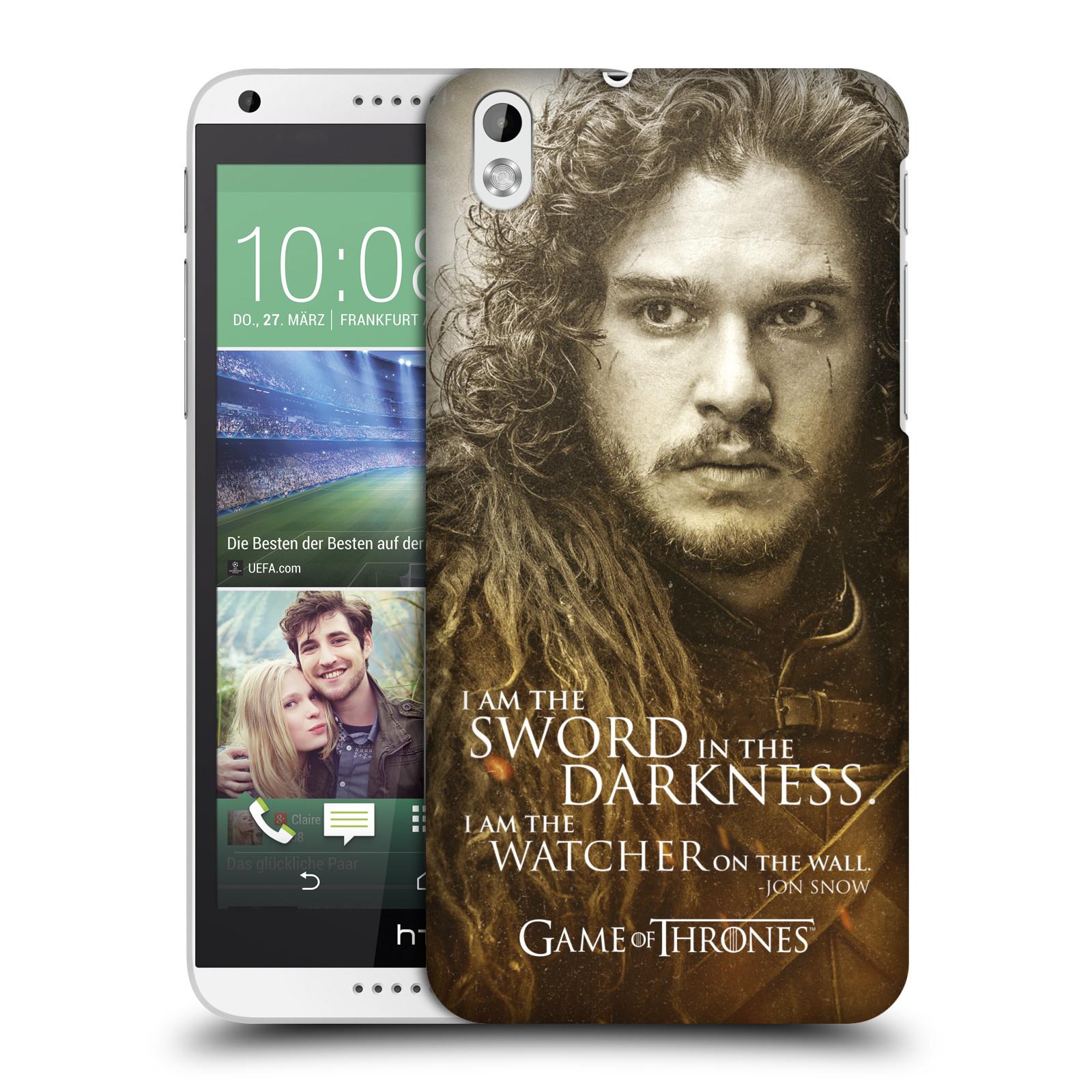 Plastové pouzdro na mobil HTC Desire 816 HEAD CASE Hra o trůny - Jon Snow (Plastový kryt či obal na mobilní telefon s licencovaným motivem Hra o trůny - Game Of Thrones pro HTC Desire 816)