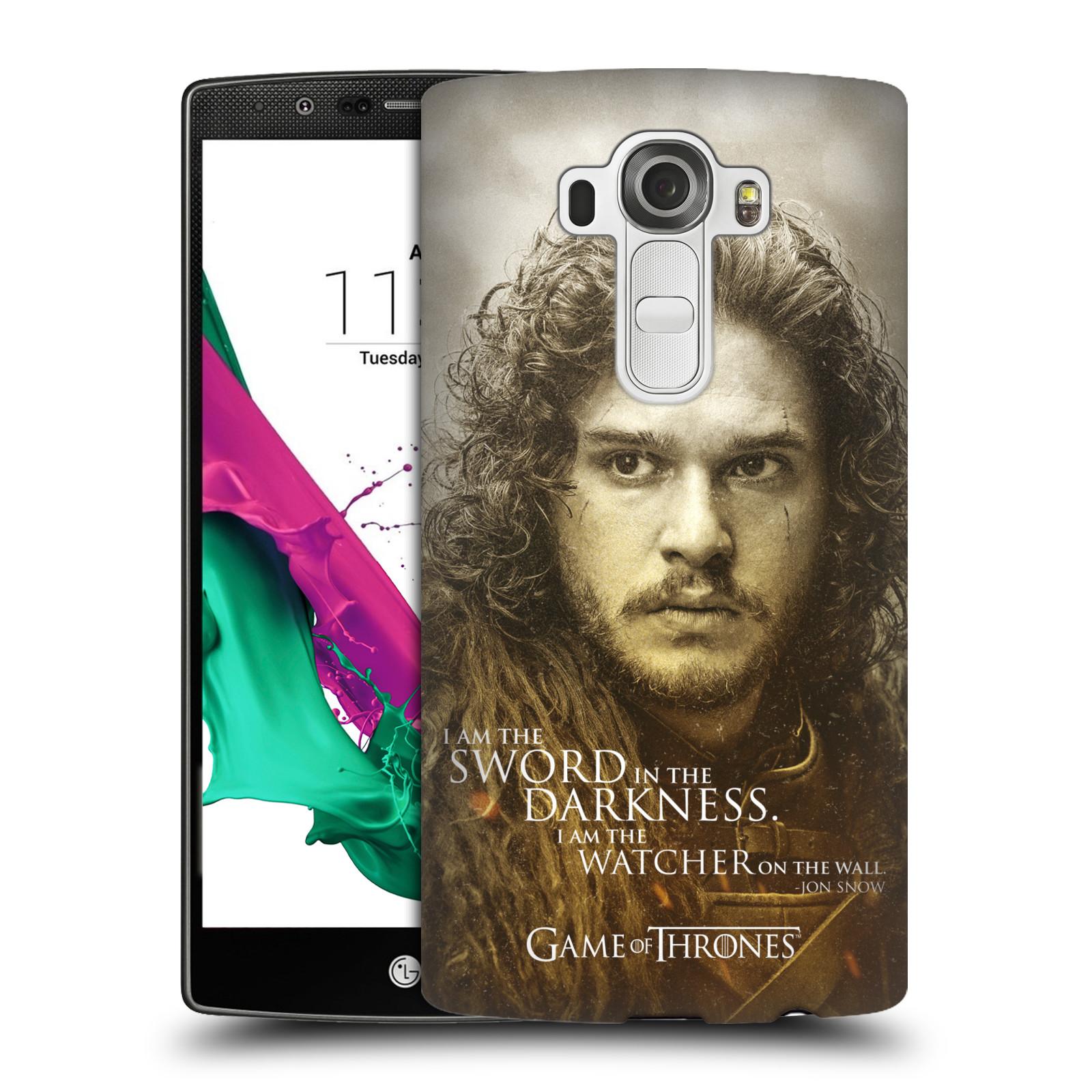 Plastové pouzdro na mobil LG G4 HEAD CASE Hra o trůny - Jon Snow (Plastový kryt či obal na mobilní telefon s licencovaným motivem Hra o trůny - Game Of Thrones pro LG G4)