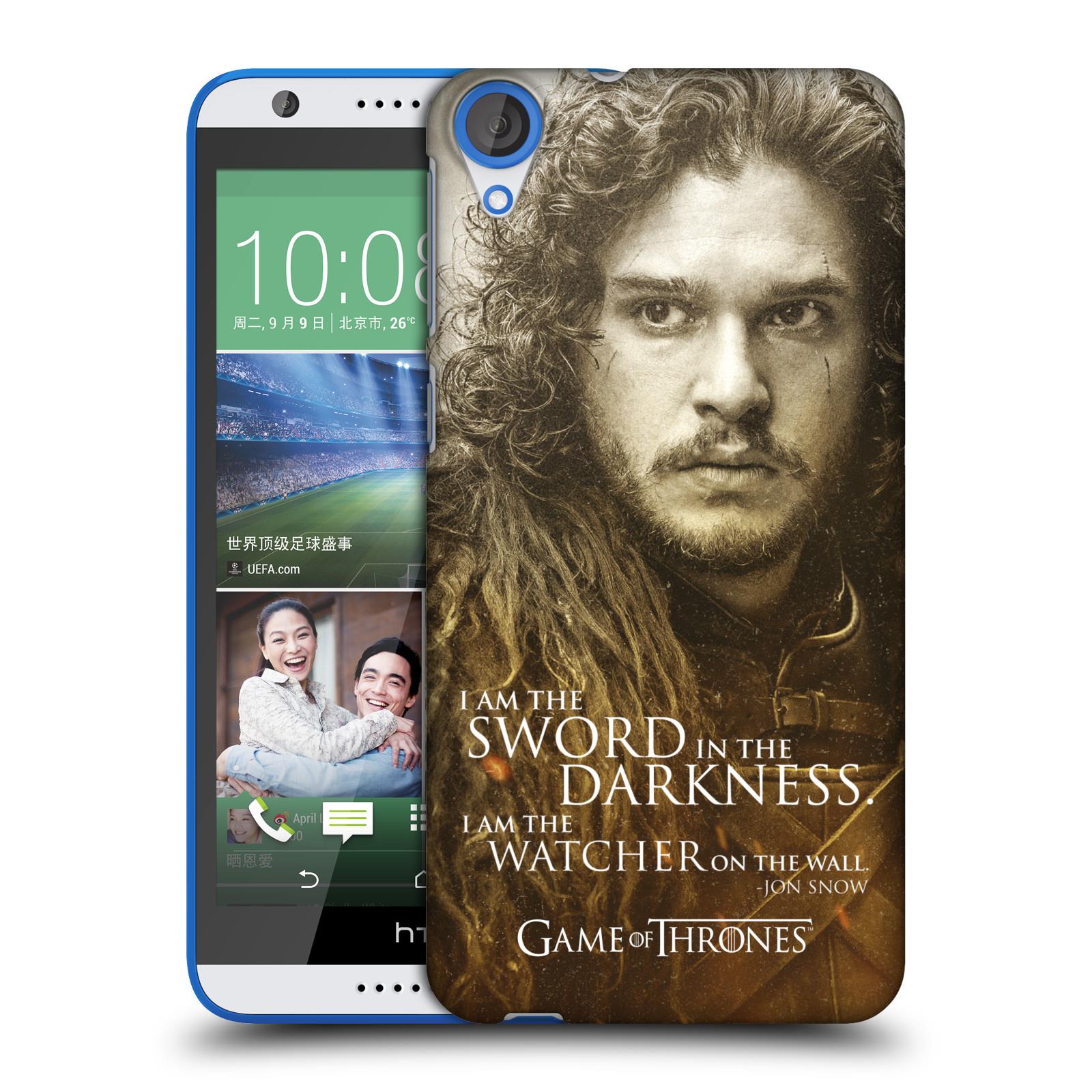 Plastové pouzdro na mobil HTC Desire 820 HEAD CASE Hra o trůny - Jon Snow (Plastový kryt či obal na mobilní telefon s licencovaným motivem Hra o trůny - Game Of Thrones pro HTC Desire 820)