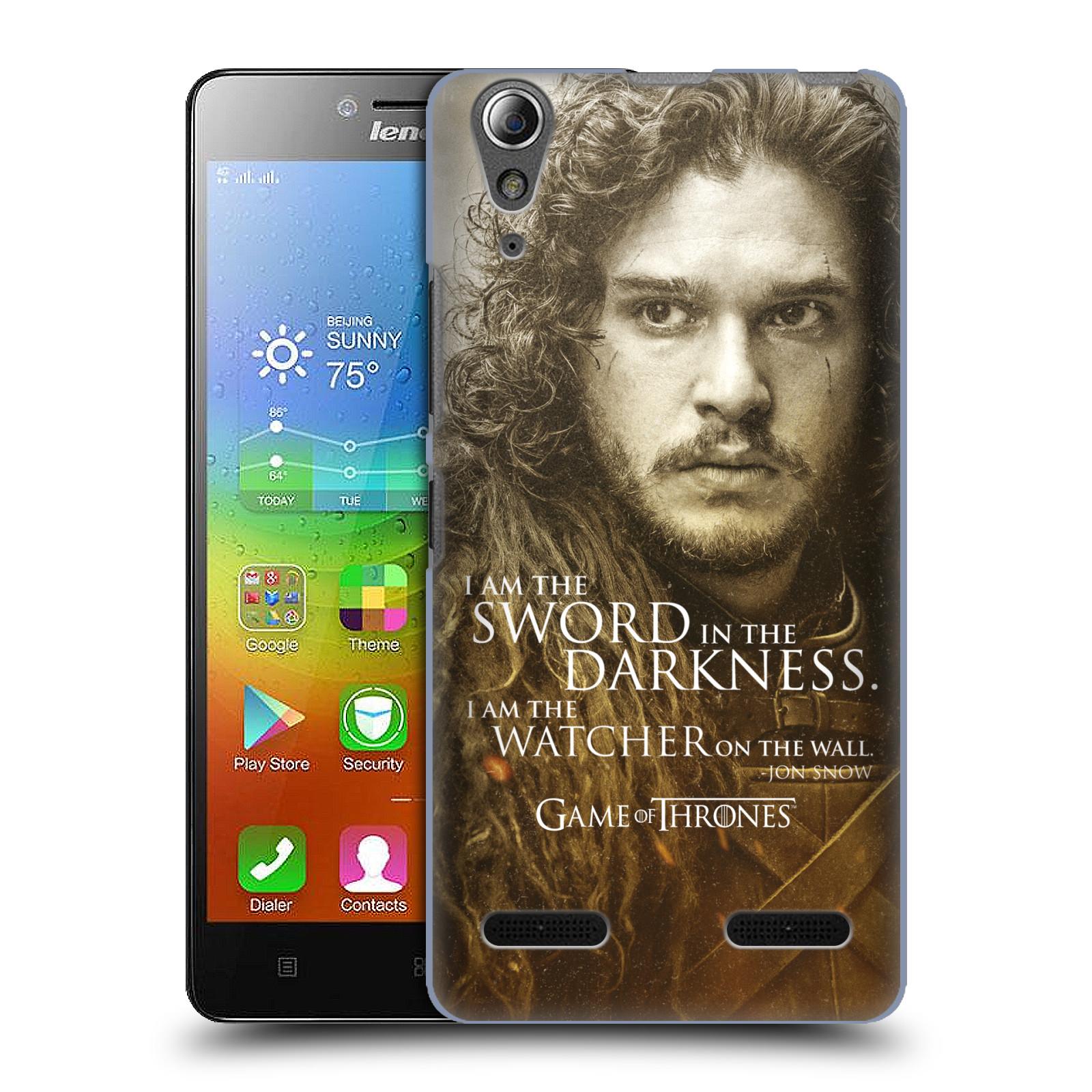 Plastové pouzdro na mobil Lenovo A6000 HEAD CASE Hra o trůny - Jon Snow (Plastový kryt či obal na mobilní telefon s licencovaným motivem Hra o trůny - Game Of Thrones pro Lenovo A6000)