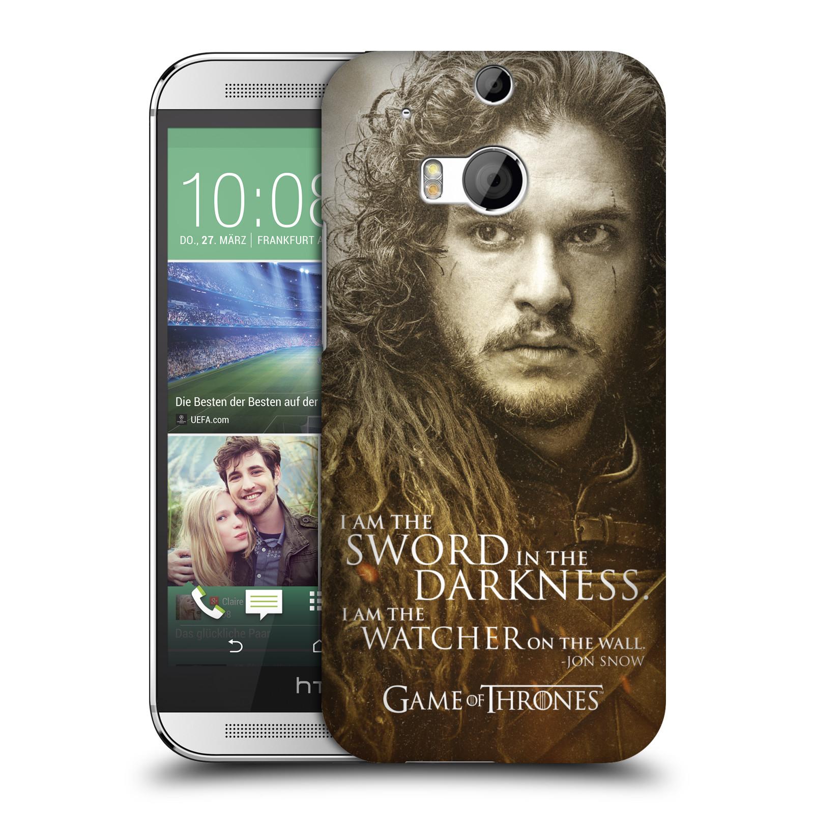 Plastové pouzdro na mobil HTC ONE M8 HEAD CASE Hra o trůny - Jon Snow (Plastový kryt či obal na mobilní telefon s licencovaným motivem Hra o trůny - Game Of Thrones pro HTC ONE M8)
