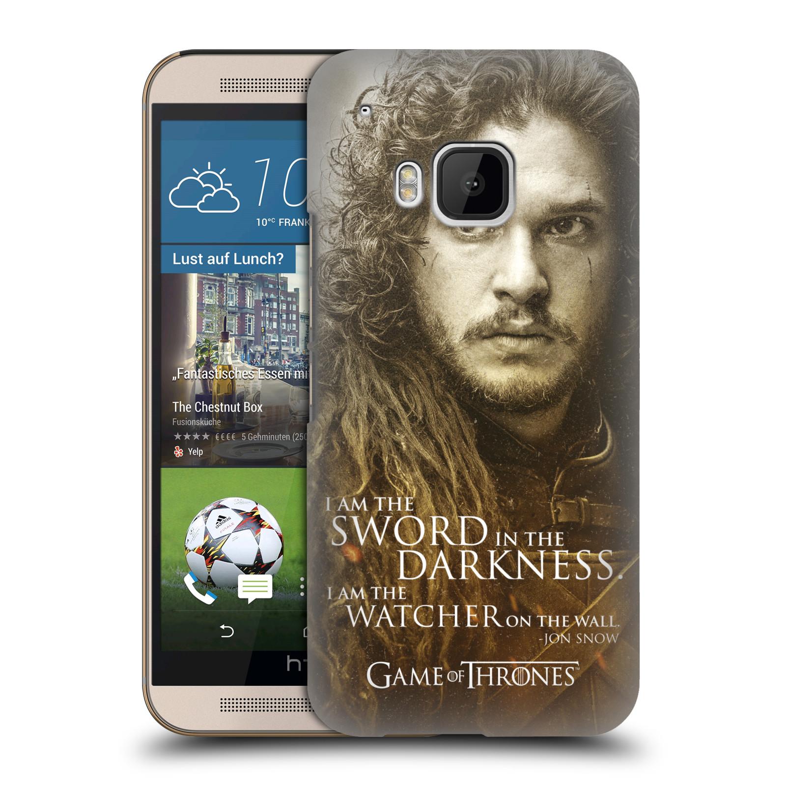 Plastové pouzdro na mobil HTC ONE M9 HEAD CASE Hra o trůny - Jon Snow (Plastový kryt či obal na mobilní telefon s licencovaným motivem Hra o trůny - Game Of Thrones pro HTC ONE M9)