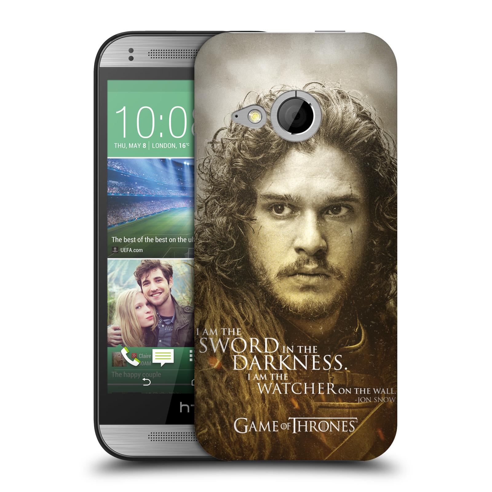 Plastové pouzdro na mobil HTC ONE Mini 2 HEAD CASE Hra o trůny - Jon Snow (Plastový kryt či obal na mobilní telefon s licencovaným motivem Hra o trůny - Game Of Thrones pro HTC ONE Mini 2)