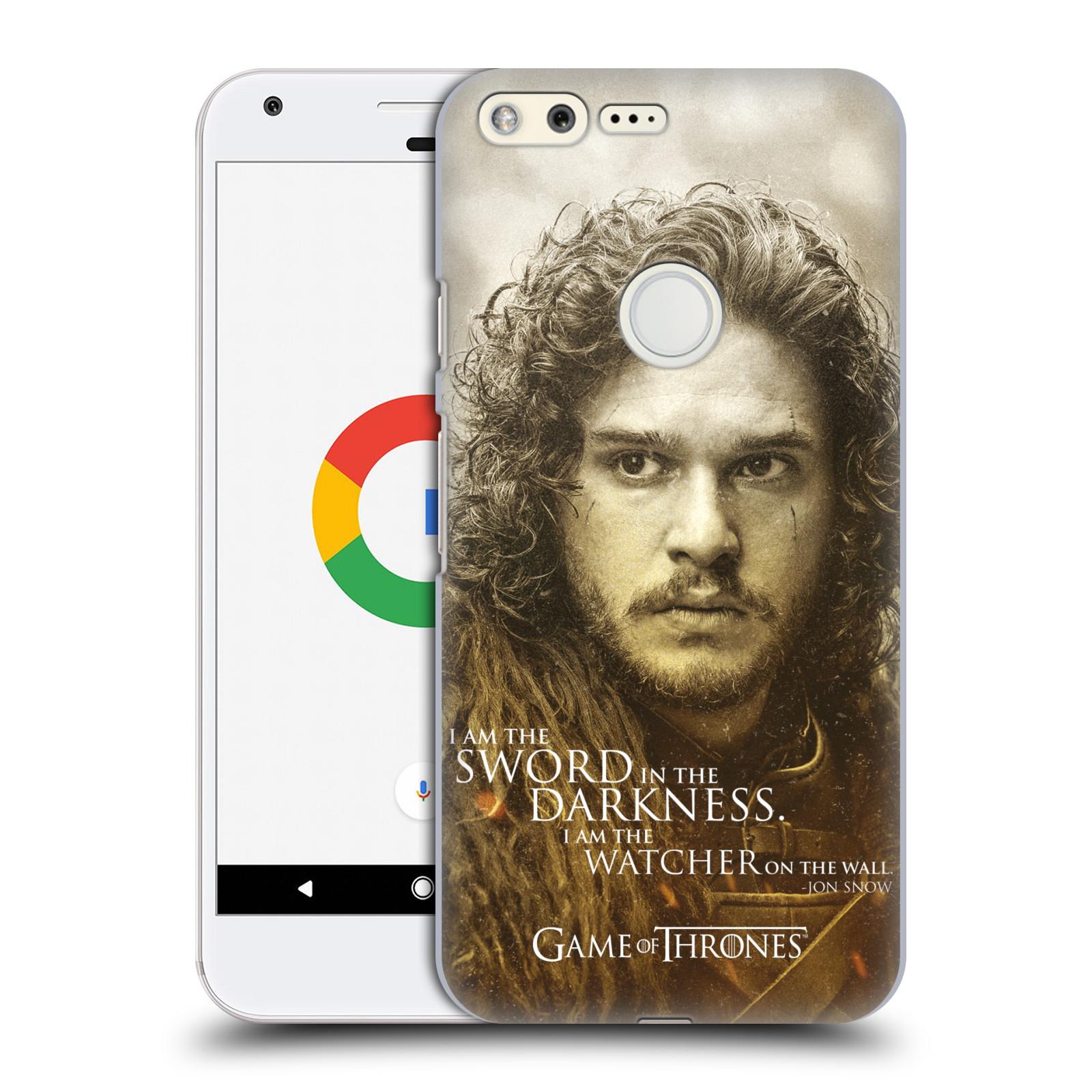 Plastové pouzdro na mobil Google Pixel HEAD CASE Hra o trůny - Jon Snow (Plastový kryt či obal na mobilní telefon s licencovaným motivem Hra o trůny - Game Of Thrones pro Google Pixel)