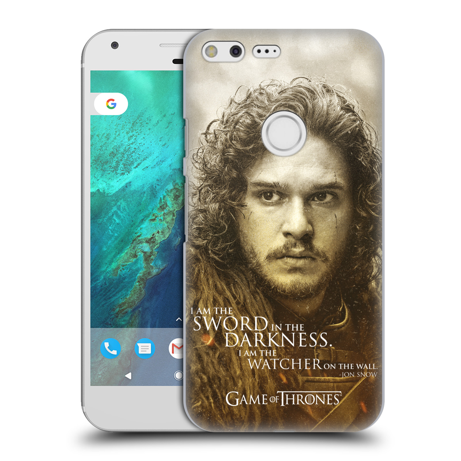 Plastové pouzdro na mobil Google Pixel XL HEAD CASE Hra o trůny - Jon Snow (Plastový kryt či obal na mobilní telefon s licencovaným motivem Hra o trůny - Game Of Thrones pro Google Pixel XL)
