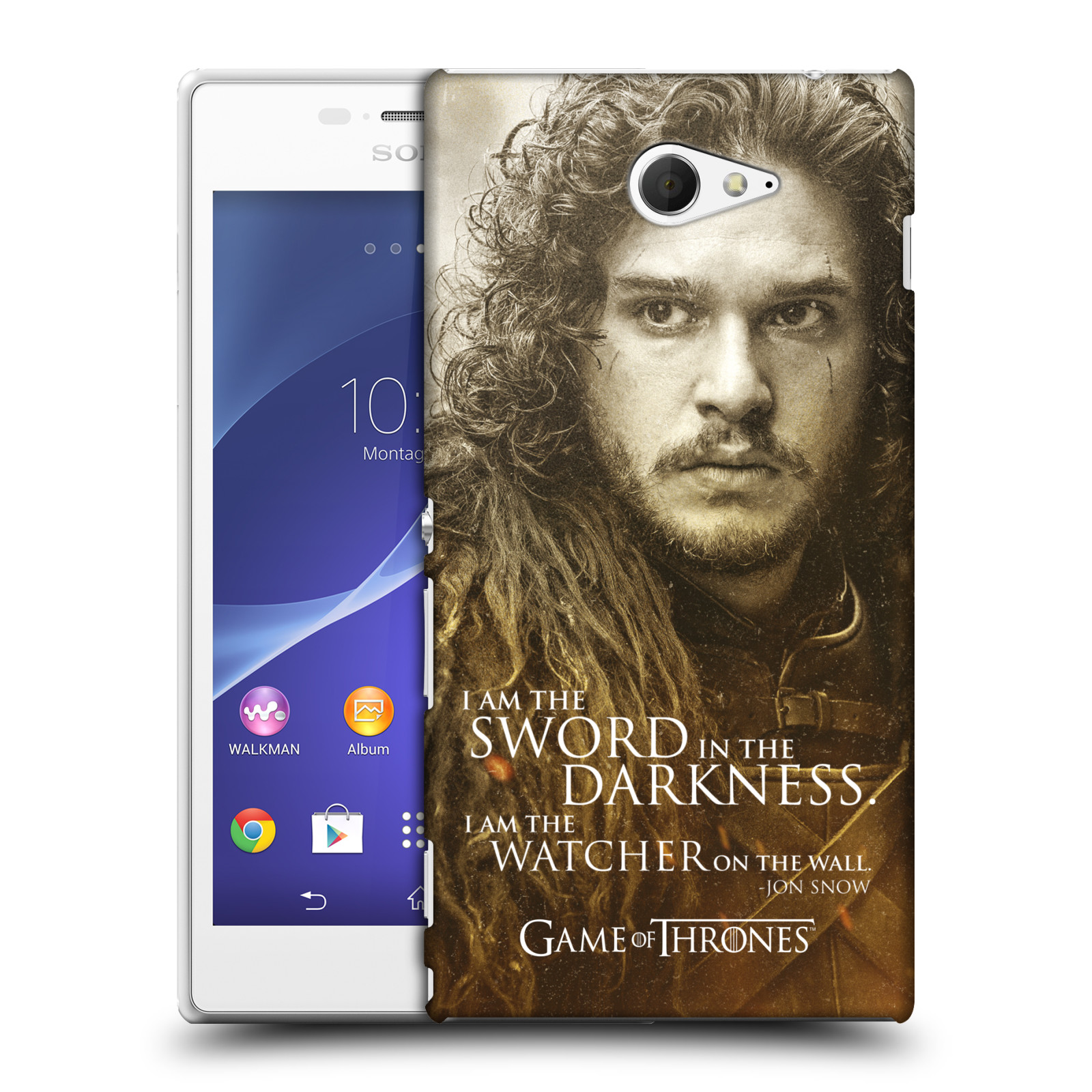 Plastové pouzdro na mobil Sony Xperia M2 D2303 HEAD CASE Hra o trůny - Jon Snow (Plastový kryt či obal na mobilní telefon s licencovaným motivem Hra o trůny - Game Of Thrones pro Sony Xperia M2 )