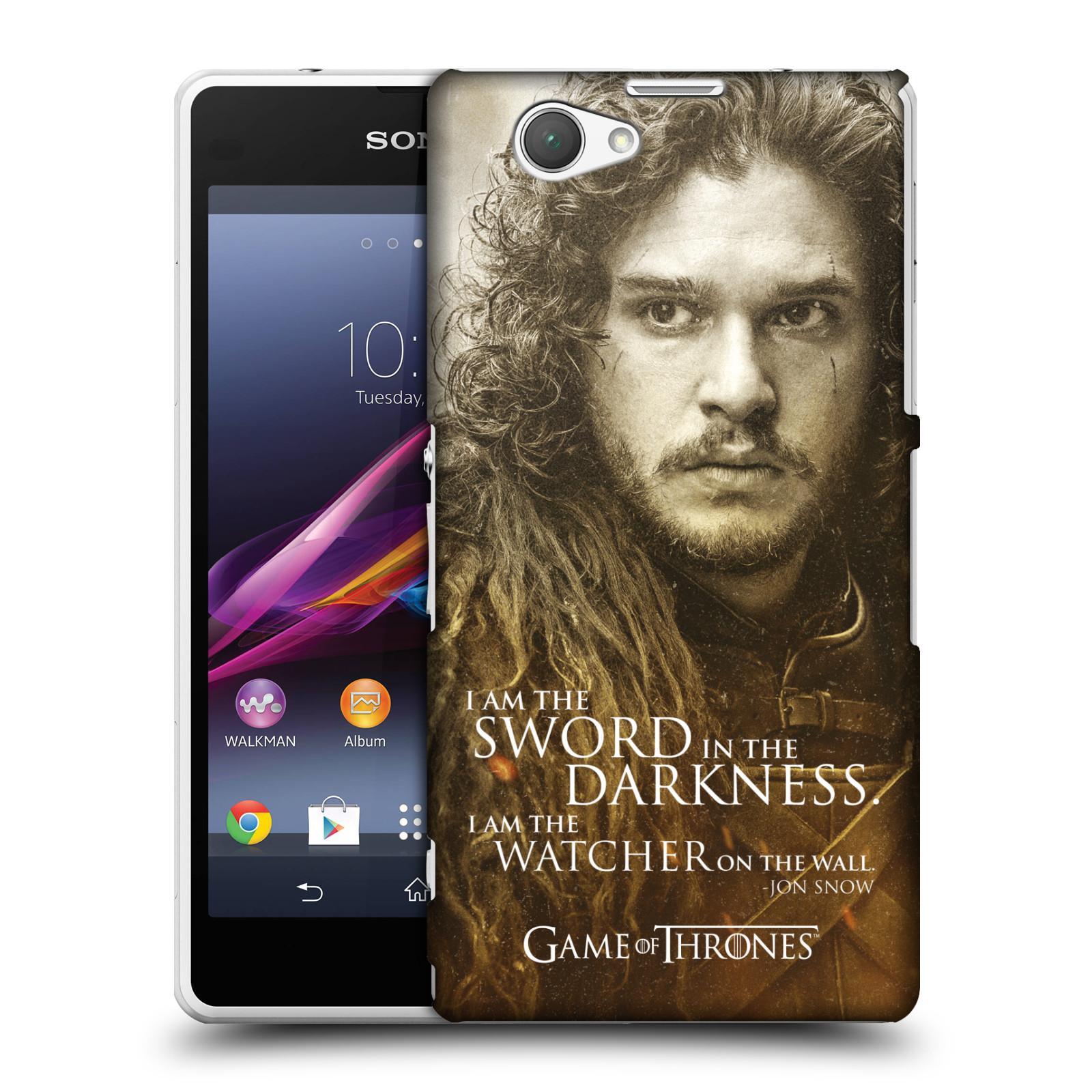 Plastové pouzdro na mobil Sony Xperia Z1 Compact D5503 HEAD CASE Hra o trůny - Jon Snow (Plastový kryt či obal na mobilní telefon s licencovaným motivem Hra o trůny - Game Of Thrones pro Sony Xperia Z1 Compact)