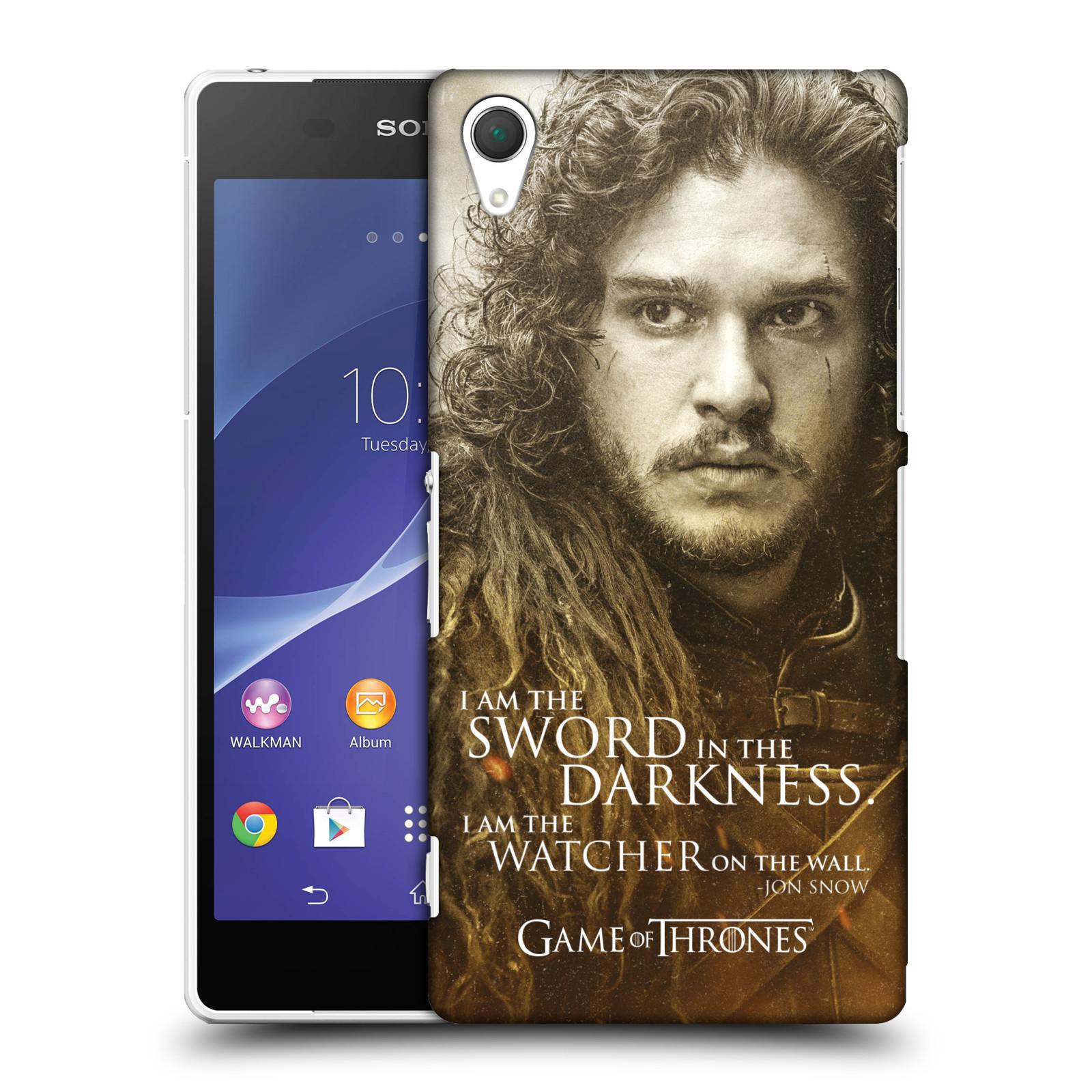 Plastové pouzdro na mobil Sony Xperia Z2 D6503 HEAD CASE Hra o trůny - Jon Snow (Plastový kryt či obal na mobilní telefon s licencovaným motivem Hra o trůny - Game Of Thrones pro Sony Xperia Z2)