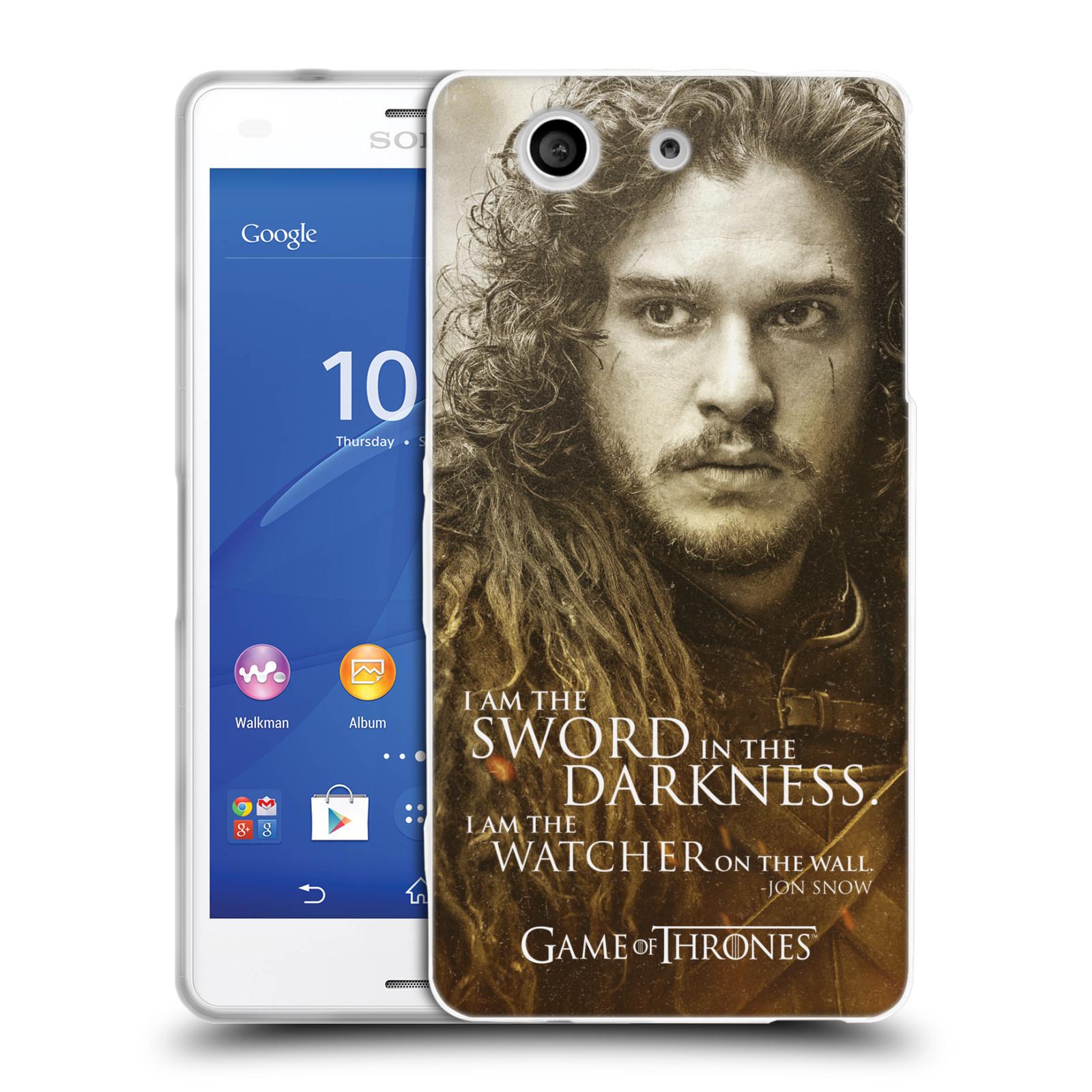 Silikonové pouzdro na mobil Sony Xperia Z3 Compact D5803 HEAD CASE Hra o trůny - Jon Snow (Silikonový kryt či obal na mobilní telefon s licencovaným motivem Hra o trůny - Game Of Thrones pro Sony Xperia Z3 Compact)