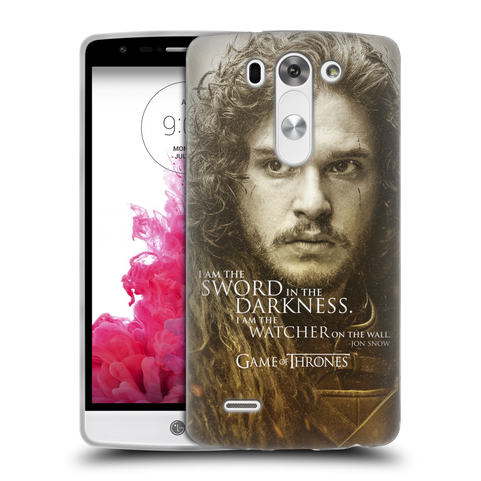 Silikonové pouzdro na mobil LG G3s HEAD CASE Hra o trůny - Jon Snow (Silikonový kryt či obal na mobilní telefon s licencovaným motivem Hra o trůny - Game Of Thrones pro LG G3s)