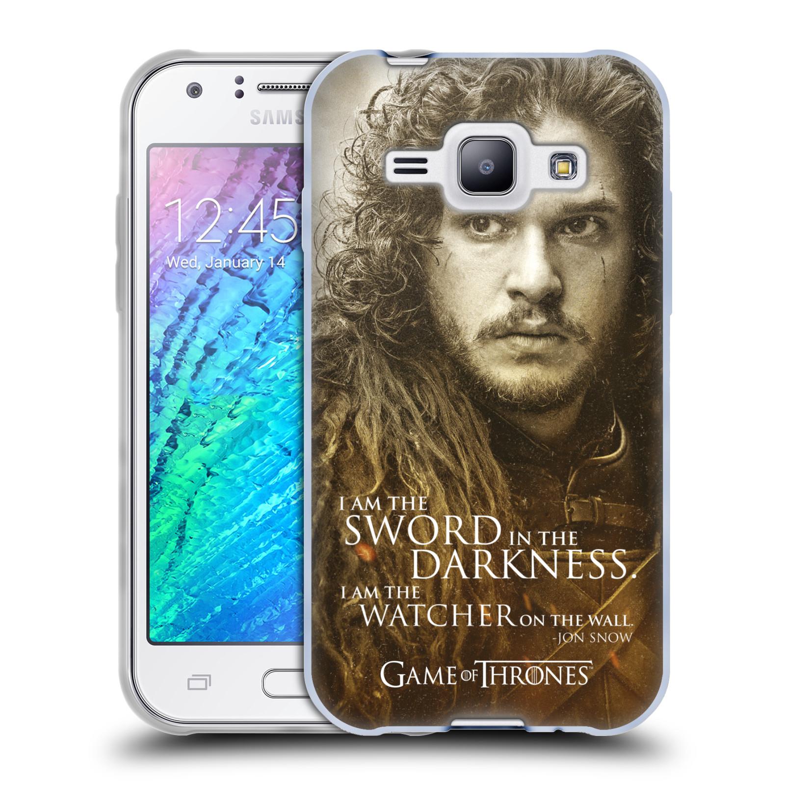 Silikonové pouzdro na mobil Samsung Galaxy J1 HEAD CASE Hra o trůny - Jon Snow (Silikonový kryt či obal na mobilní telefon s licencovaným motivem Hra o trůny - Game Of Thrones pro Samsung Galaxy J1 a J1 Duos)