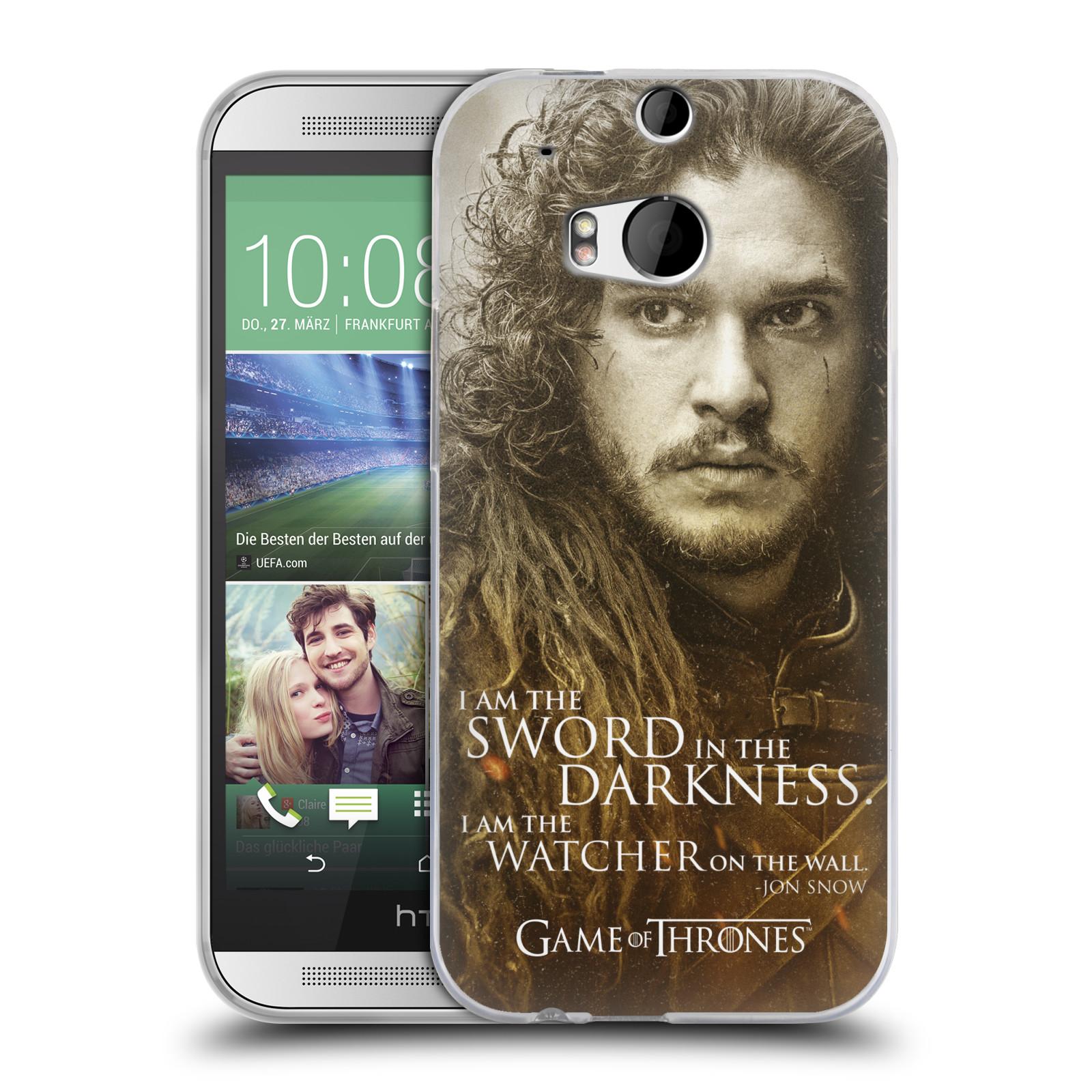 Silikonové pouzdro na mobil HTC ONE M8 HEAD CASE Hra o trůny - Jon Snow (Silikonový kryt či obal na mobilní telefon s licencovaným motivem Hra o trůny - Game Of Thrones pro HTC ONE M8)