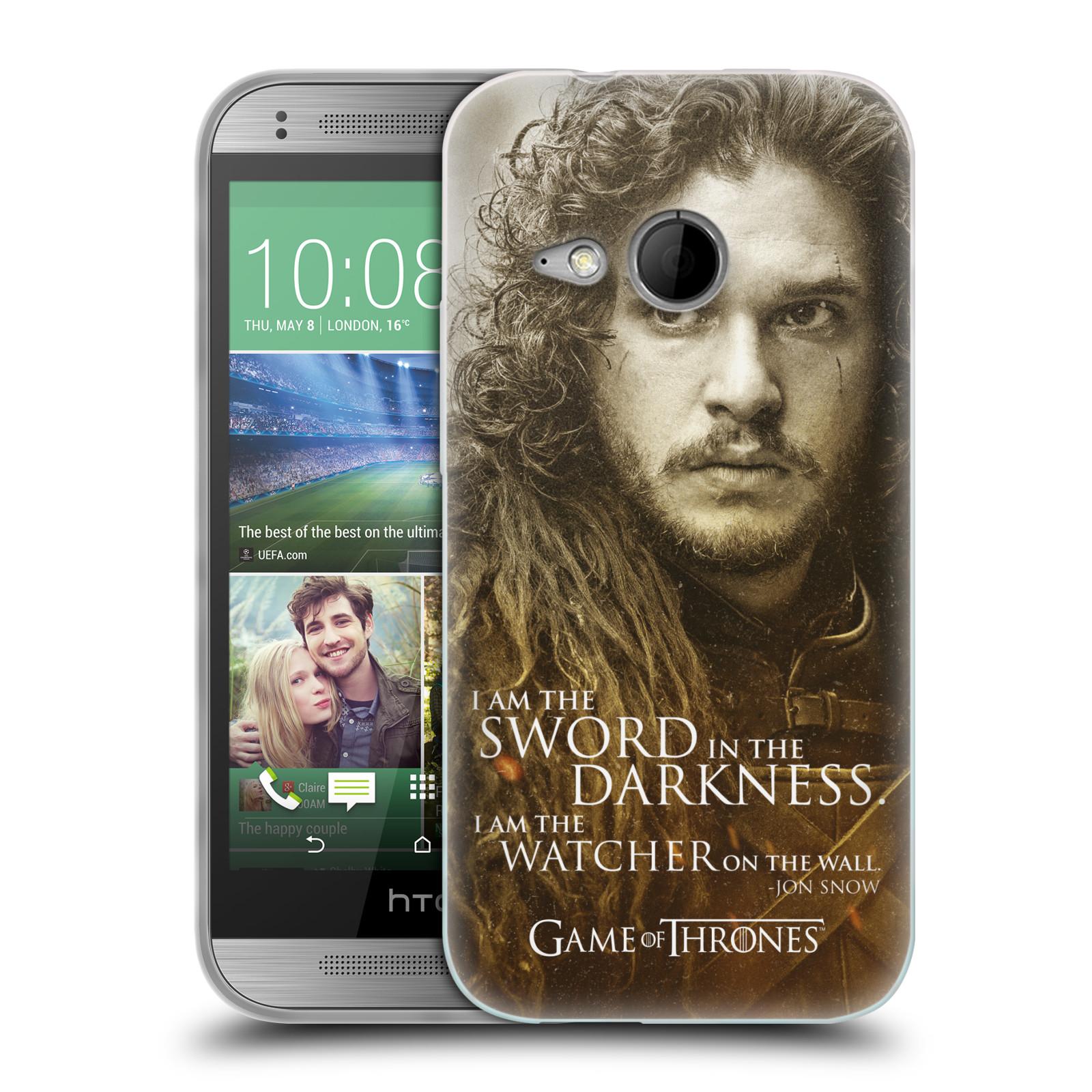 Silikonové pouzdro na mobil HTC ONE Mini 2 HEAD CASE Hra o trůny - Jon Snow (Silikonový kryt či obal na mobilní telefon s licencovaným motivem Hra o trůny - Game Of Thrones pro HTC ONE Mini 2)