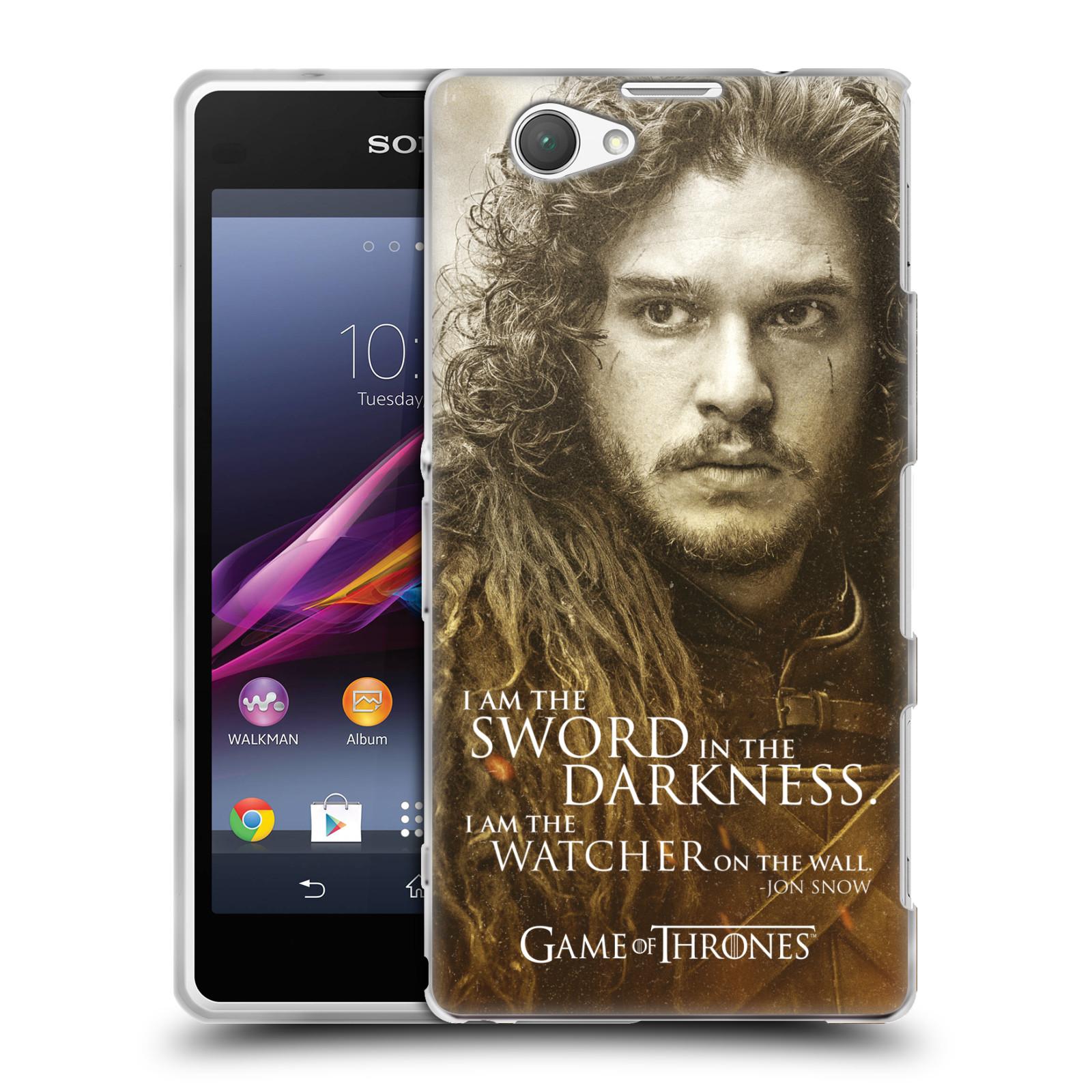 Silikonové pouzdro na mobil Sony Xperia Z1 Compact D5503 HEAD CASE Hra o trůny - Jon Snow (Silikonový kryt či obal na mobilní telefon s licencovaným motivem Hra o trůny - Game Of Thrones pro Sony Xperia Z1 Compact)